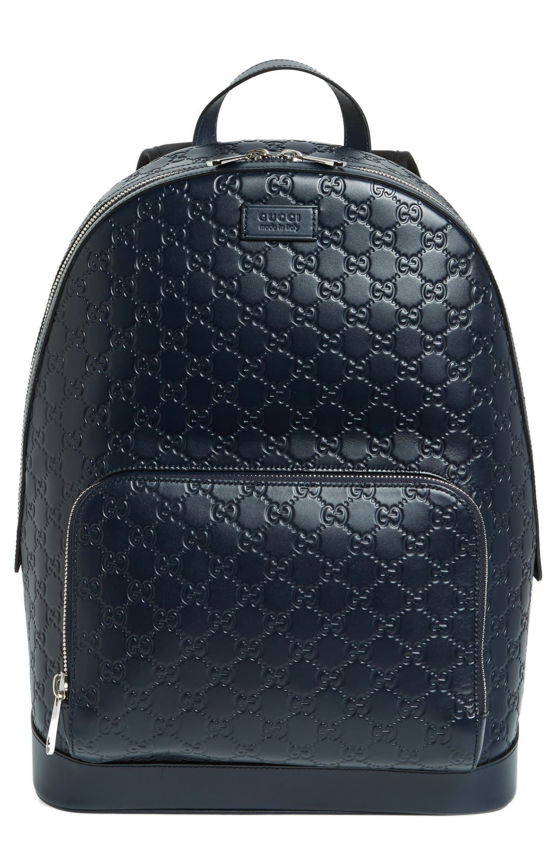 Alternate Image 1 Selected - Gucci Embossed Leather Backpack