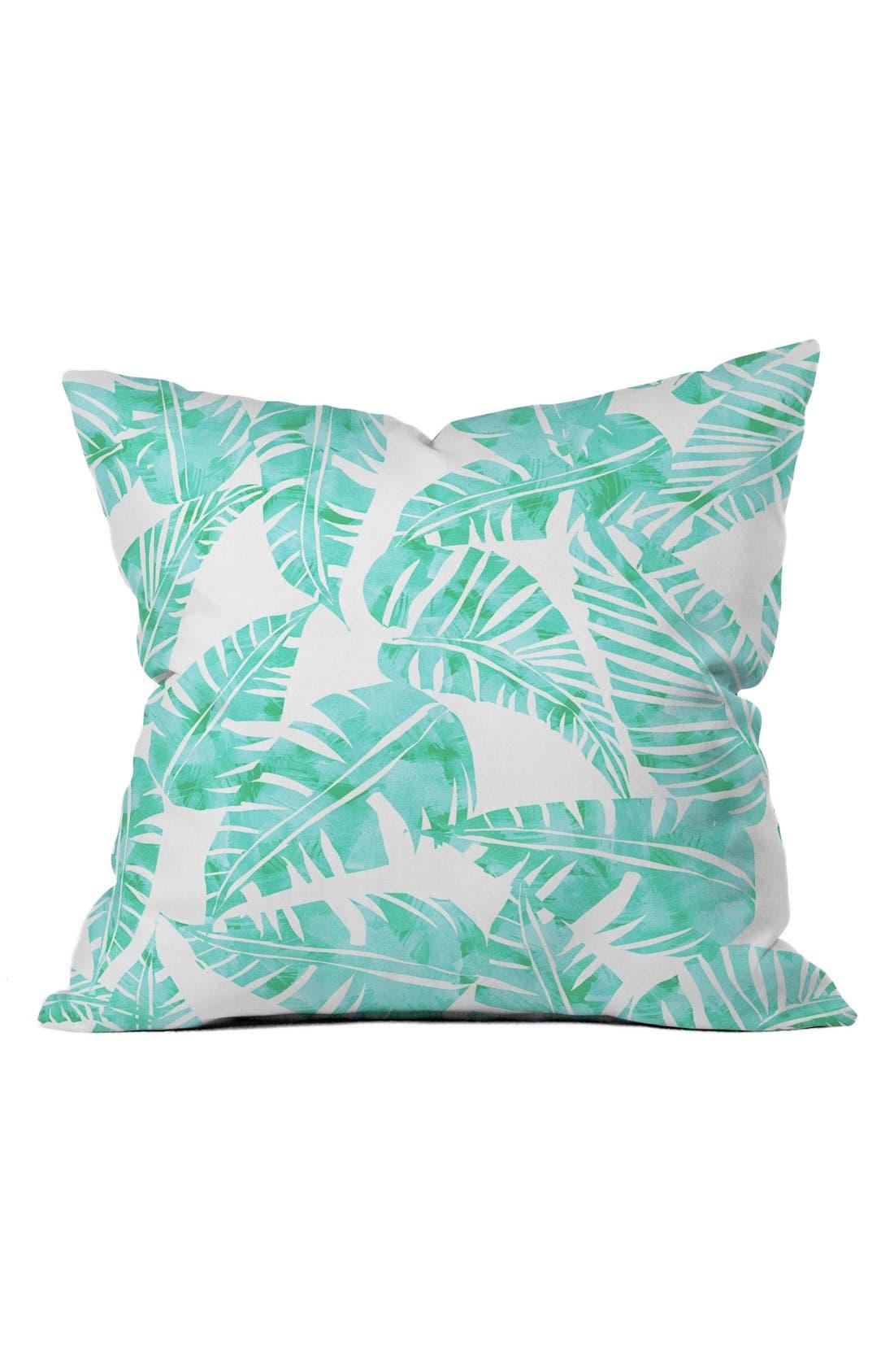 Main Image - Deny Designs Lani Kai Leaf Pillow
