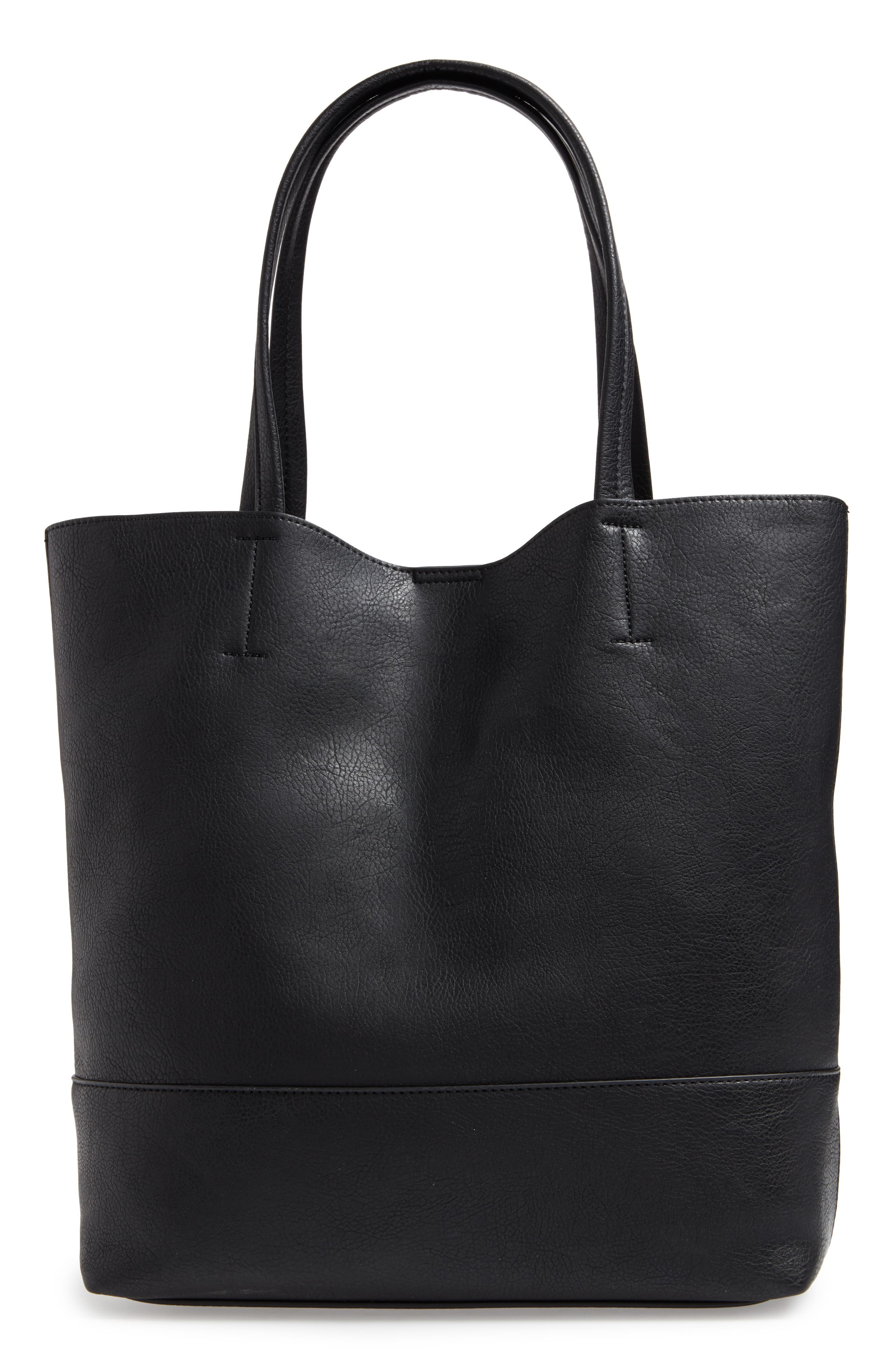 Alternate Image 3  - Sole Society Oversize Melyssa Faux Leather Tote