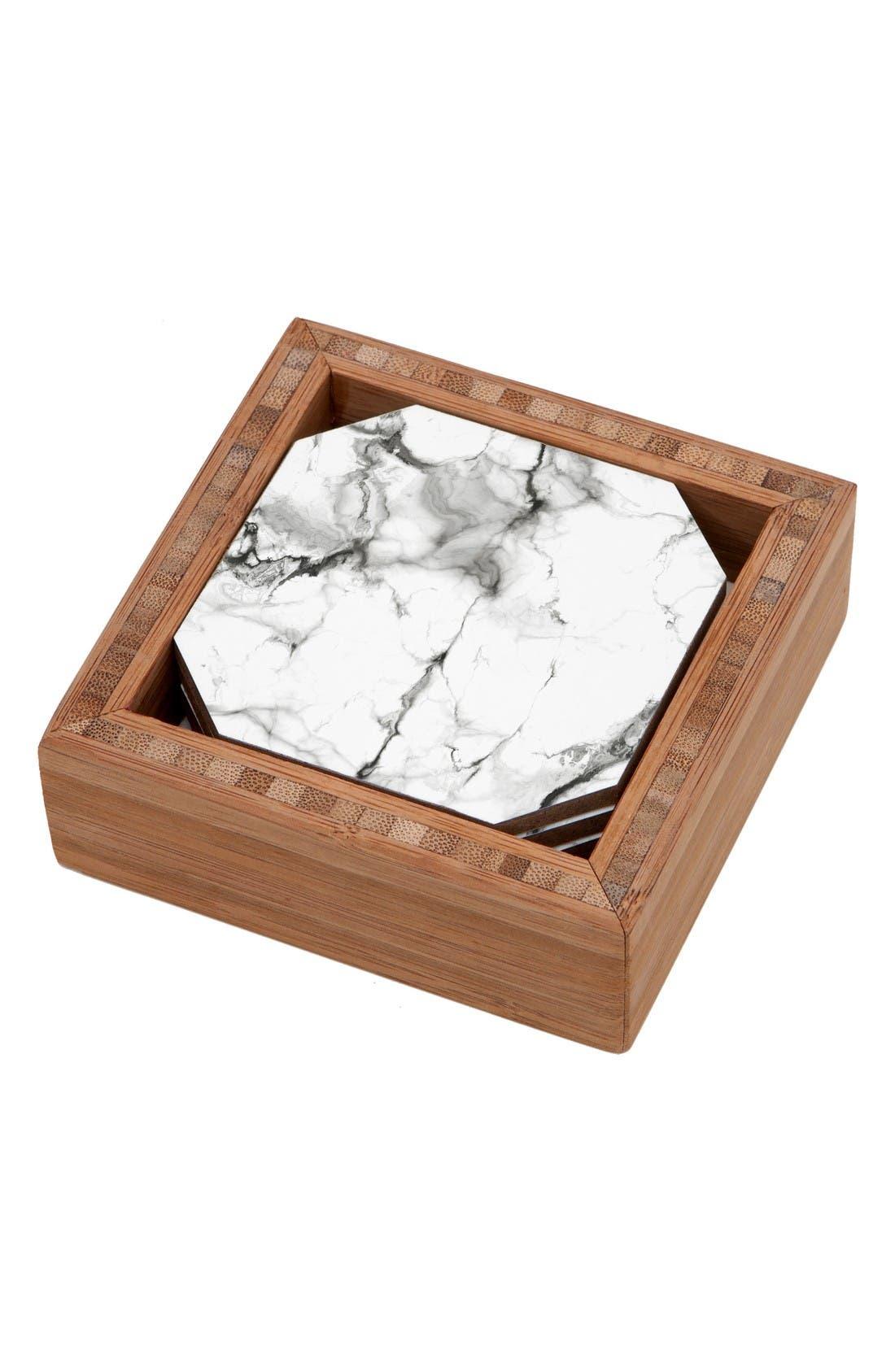 Main Image - Deny Designs Marble Set of 4 Coasters