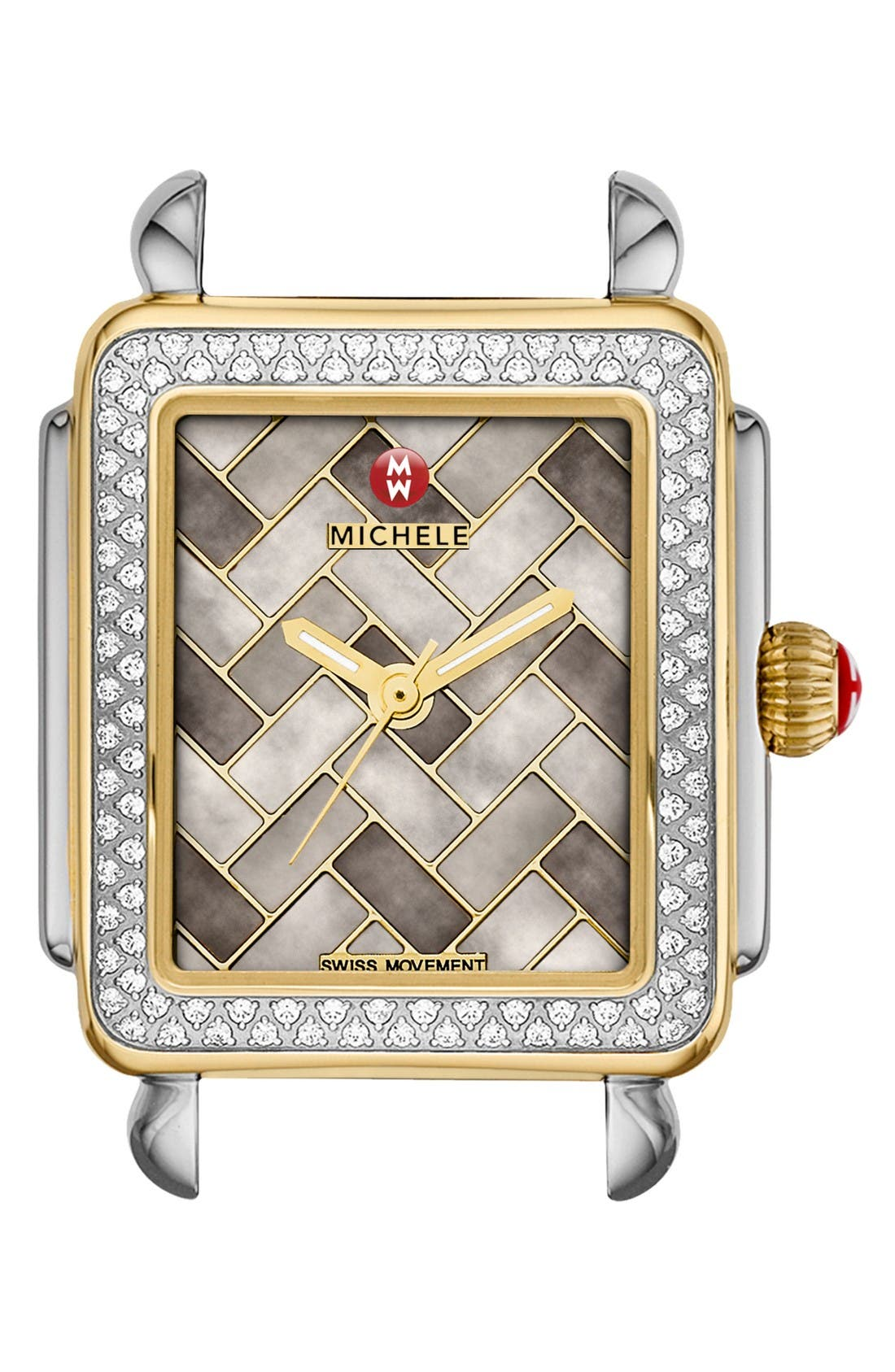 MICHELE Deco 16 Diamond Two-Tone Watch Case, 29mm x 31mm