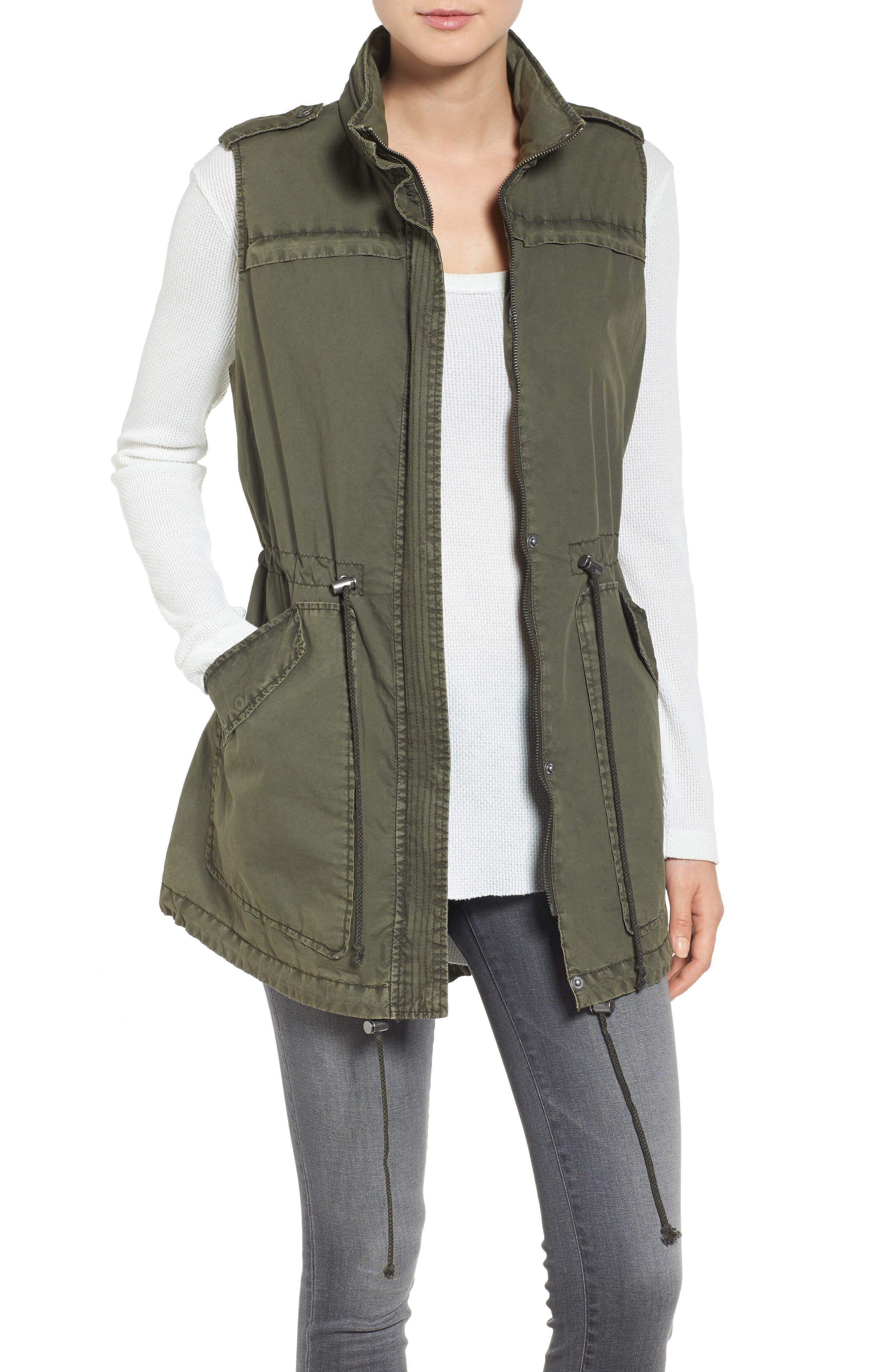 Levi's Parachute Cotton Vest,                             Main thumbnail 1, color,                             Army Green