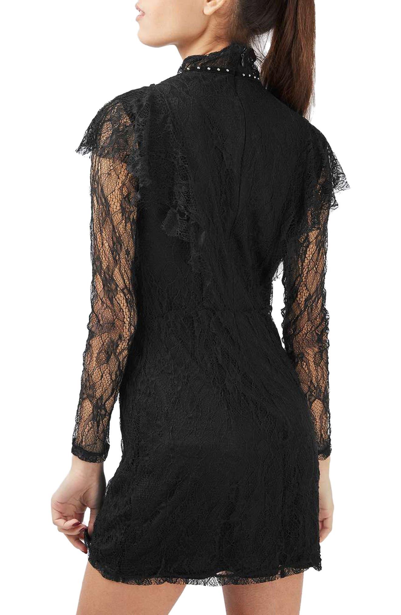Alternate Image 3  - Topshop Stud Ruffle Lace Dress