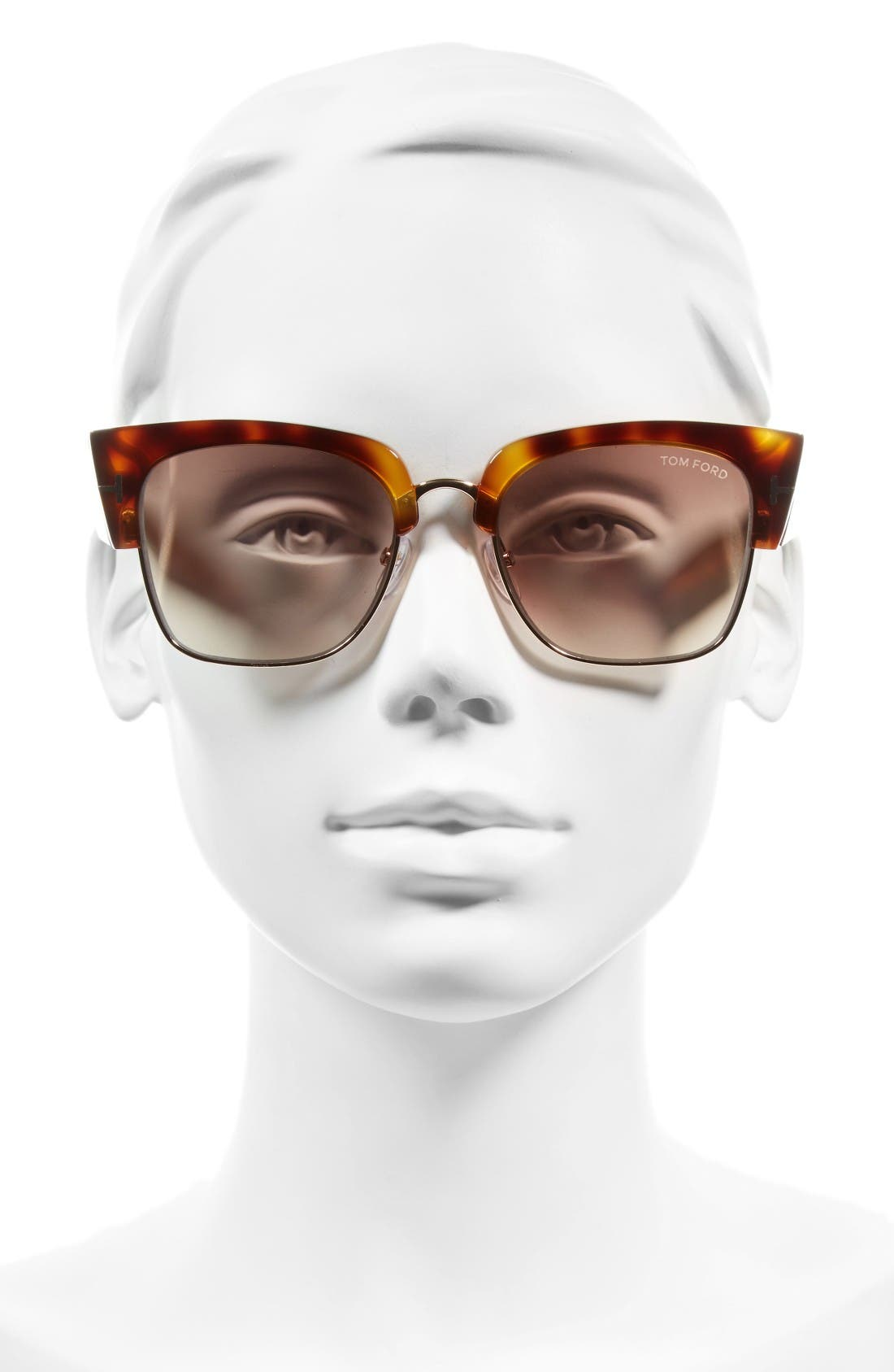 Dakota 55mm Retro Sunglasses,                             Alternate thumbnail 2, color,                             Blonde Havana/ Brown Mirror