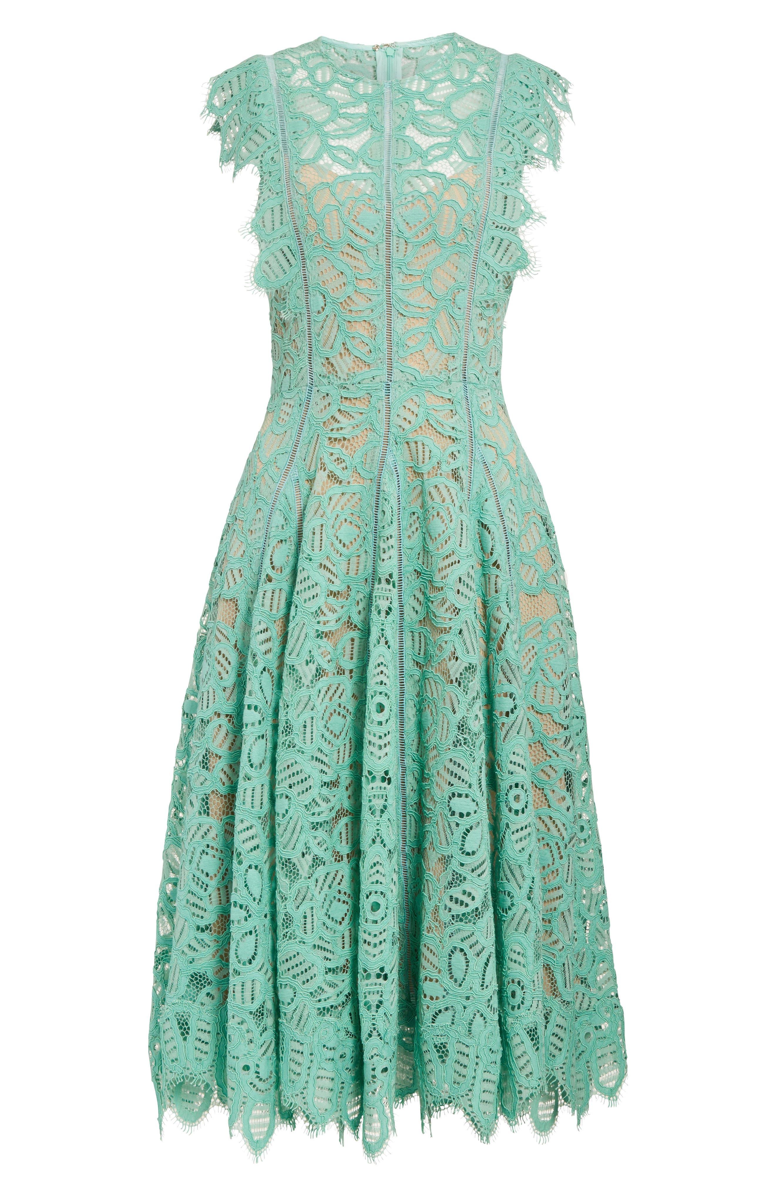 Alternate Image 4  - Lela Rose Lace Fit & Flare Dress