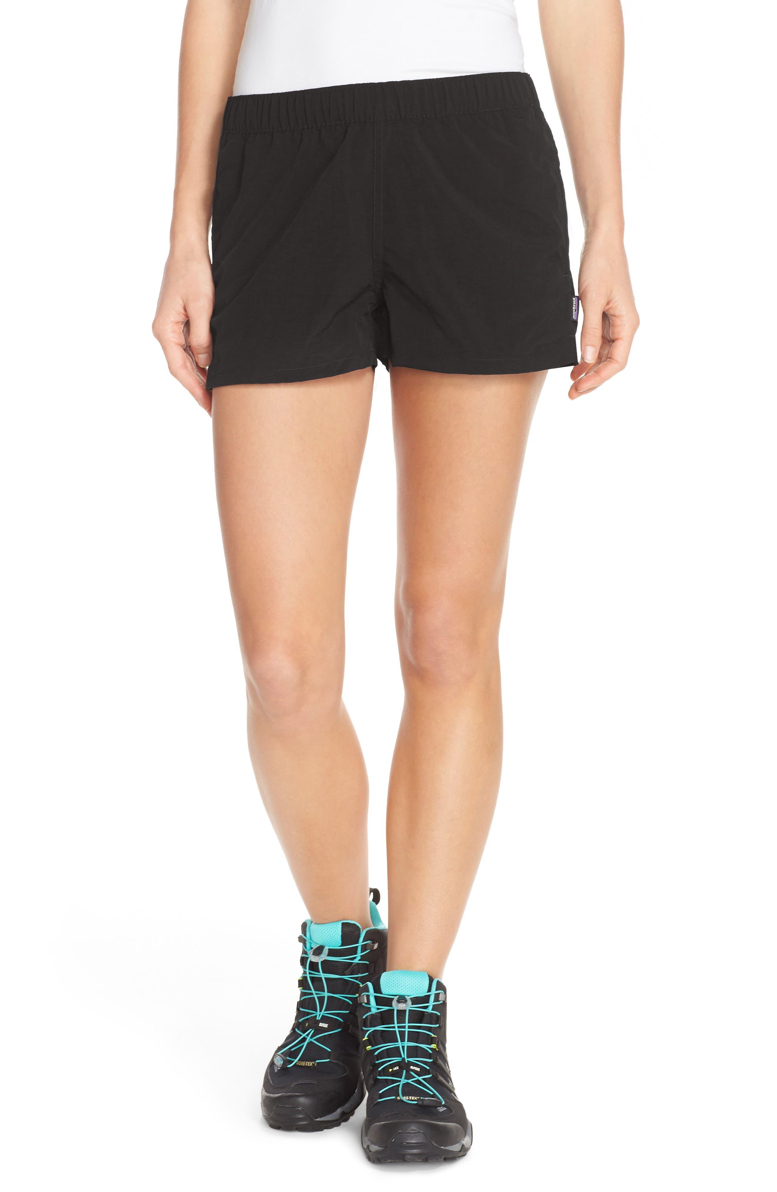 'Barely Baggies' Shorts,                         Main,                         color, Black