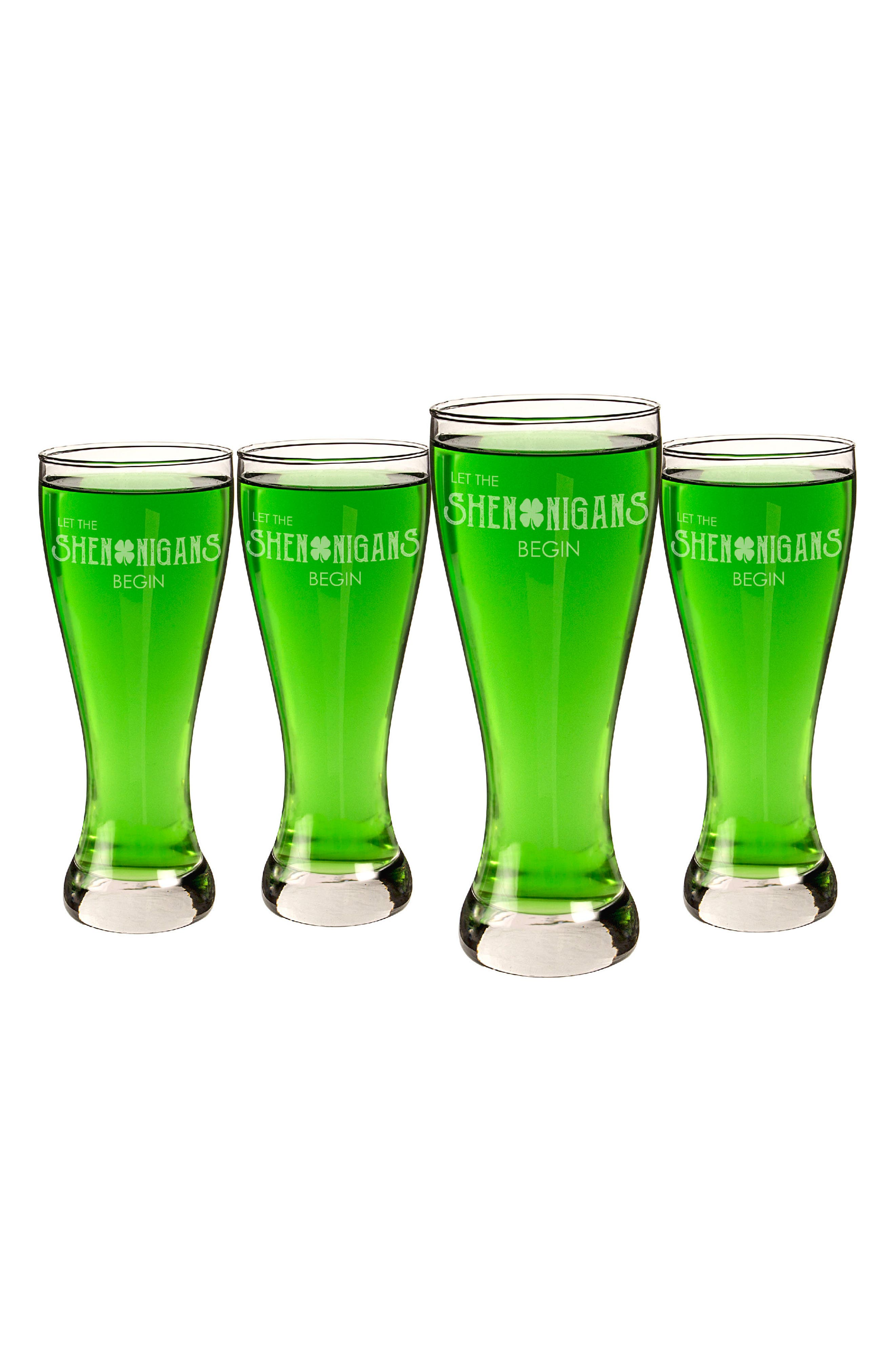 Main Image - Cathy's Concepts Set of 4 Pilsner Glasses