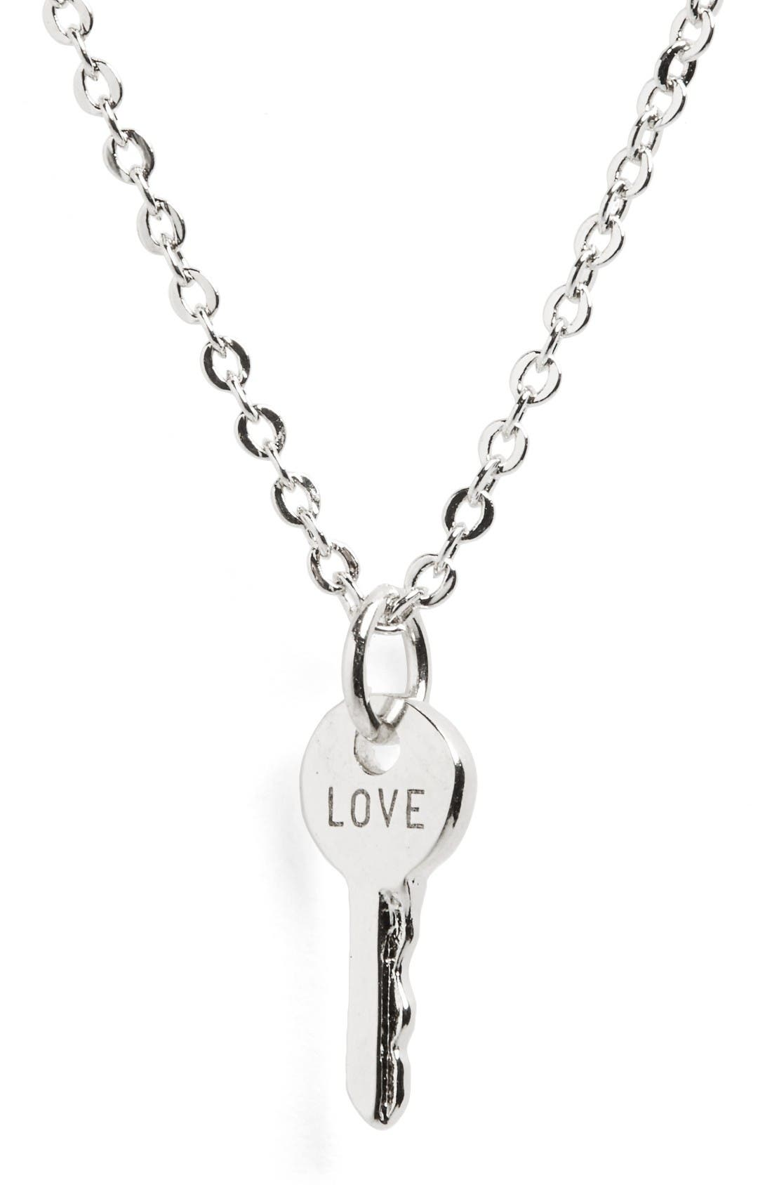 Alternate Image 2  - The Giving Keys Love Mini Key Necklace