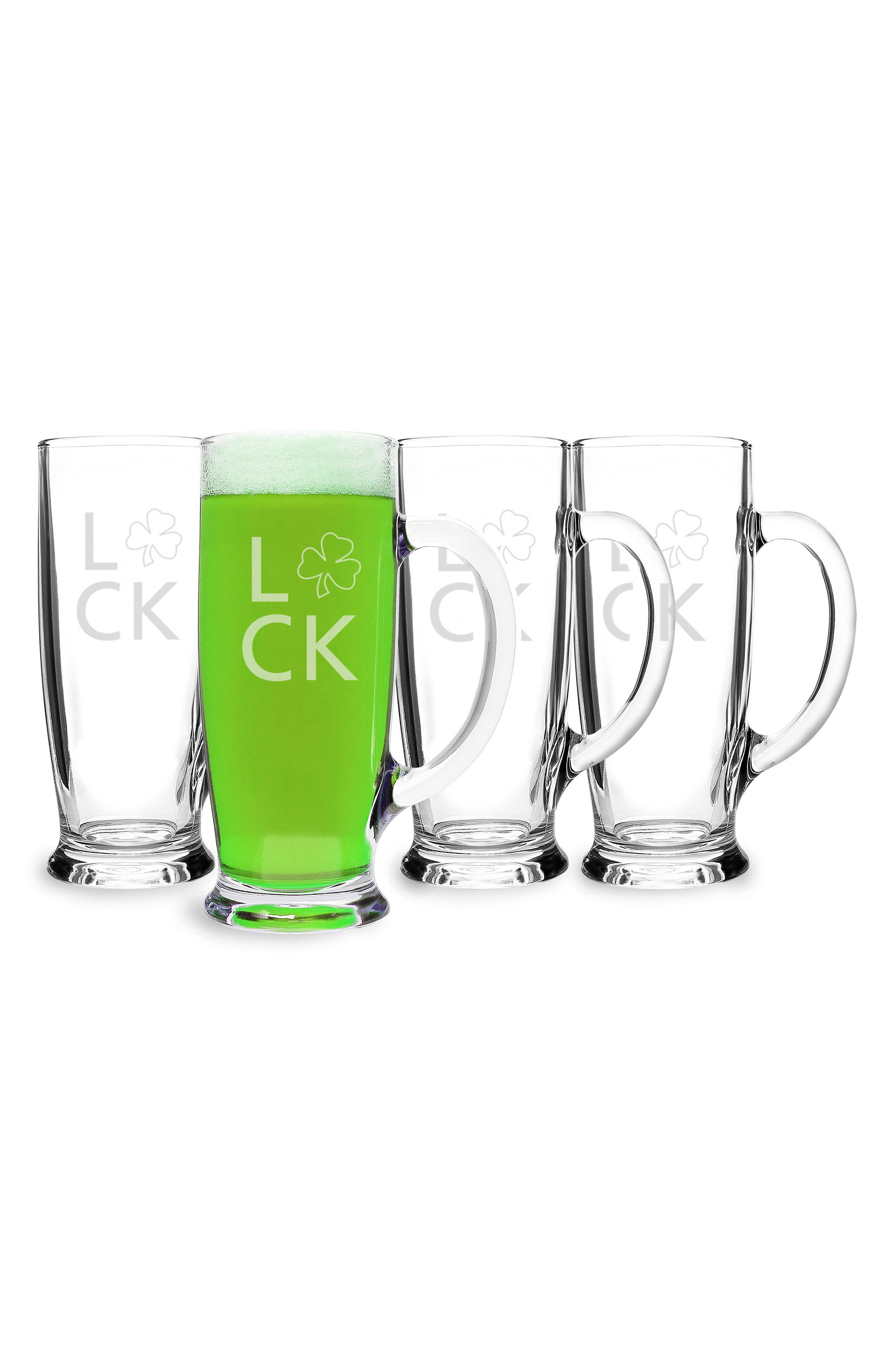 Set of 4 Craft Beer Mugs,                             Alternate thumbnail 2, color,                             Clear