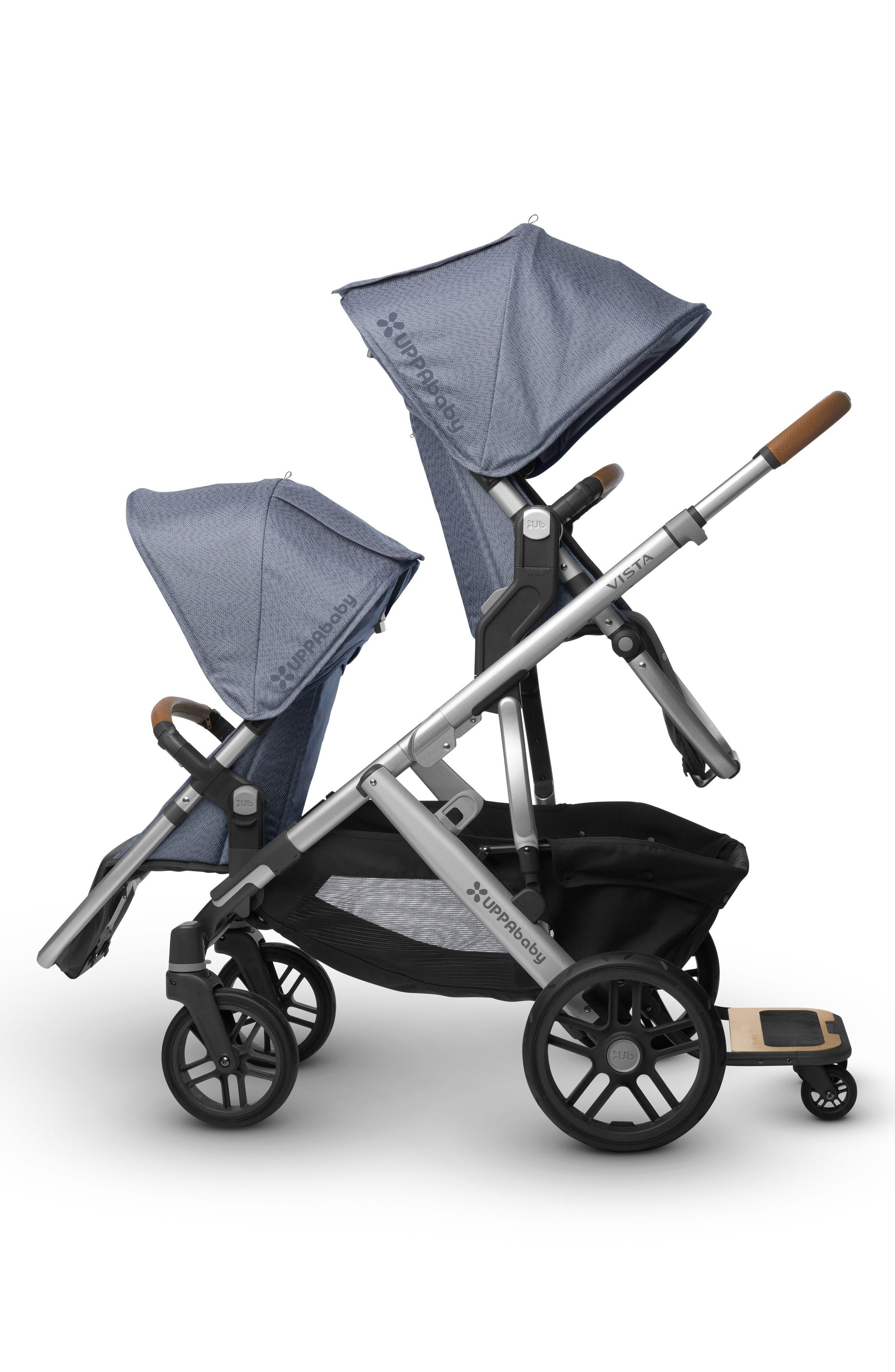 2017 VISTA Henry Aluminum Frame Convertible Stroller with Bassinet & Toddler Seat,                             Alternate thumbnail 7, color,                             Blue Marl