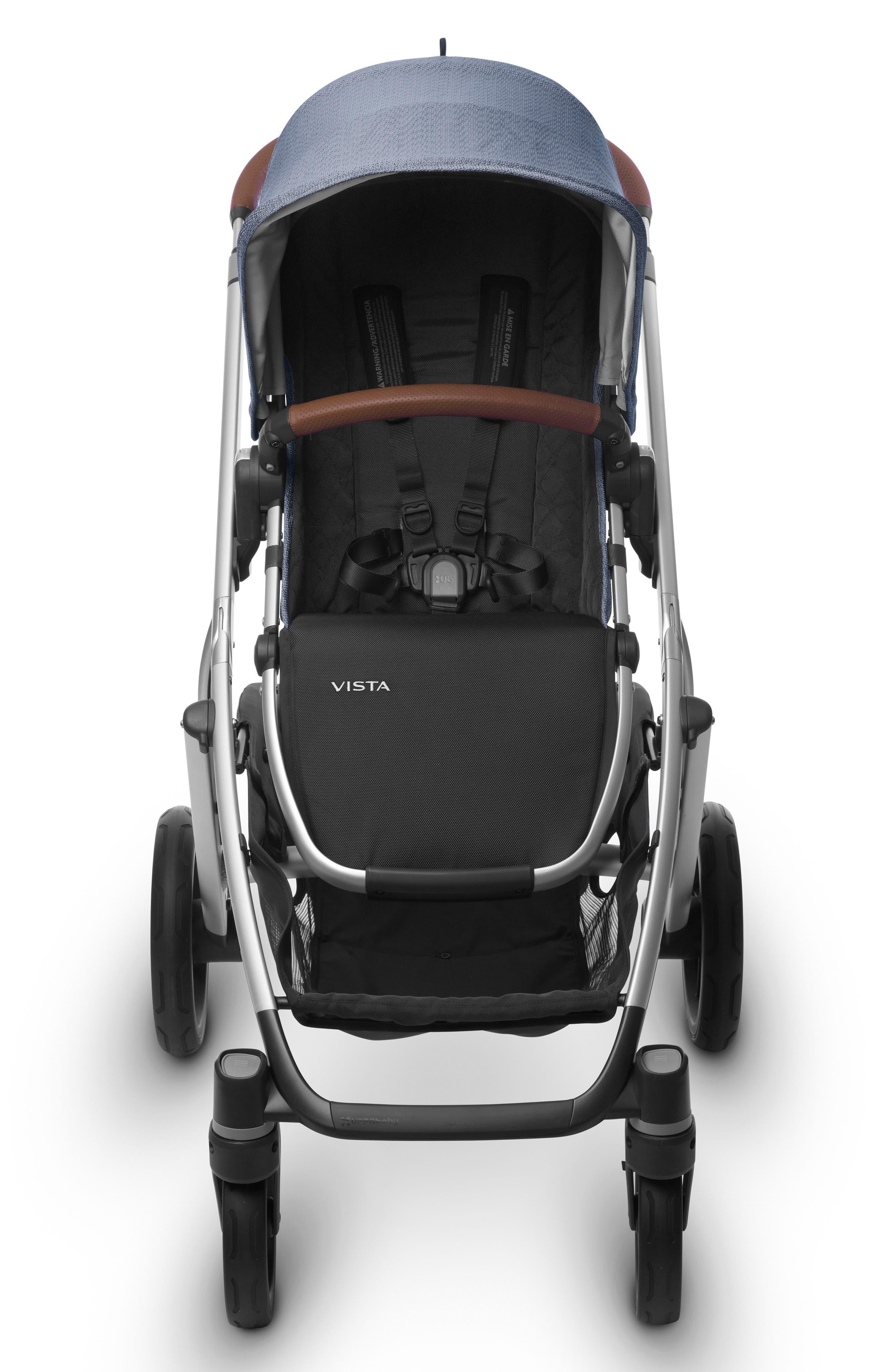 2017 VISTA Henry Aluminum Frame Convertible Stroller with Bassinet & Toddler Seat,                             Alternate thumbnail 6, color,                             Blue Marl