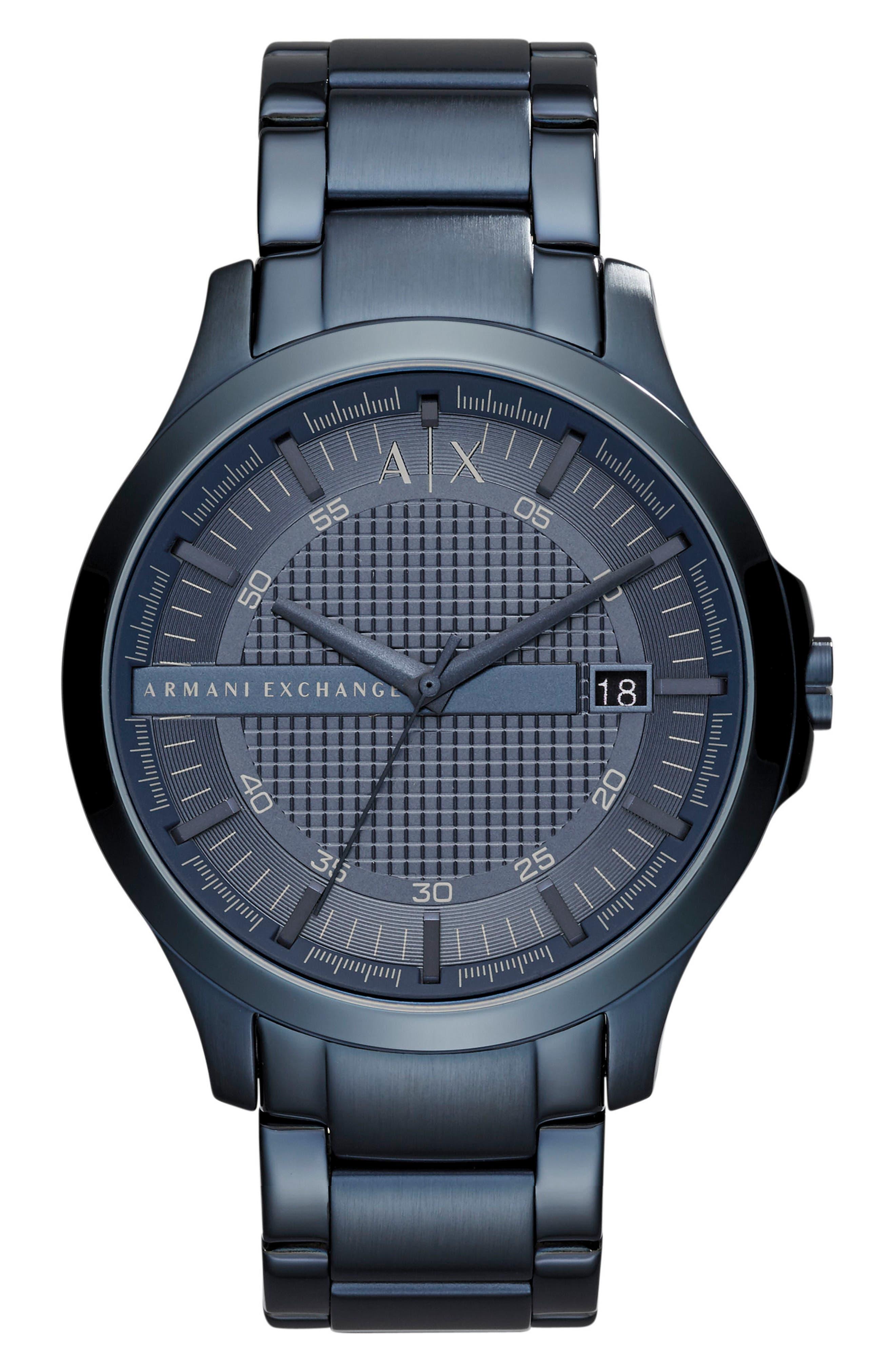Bracelet Watch, 46mm,                             Main thumbnail 1, color,                             Blue