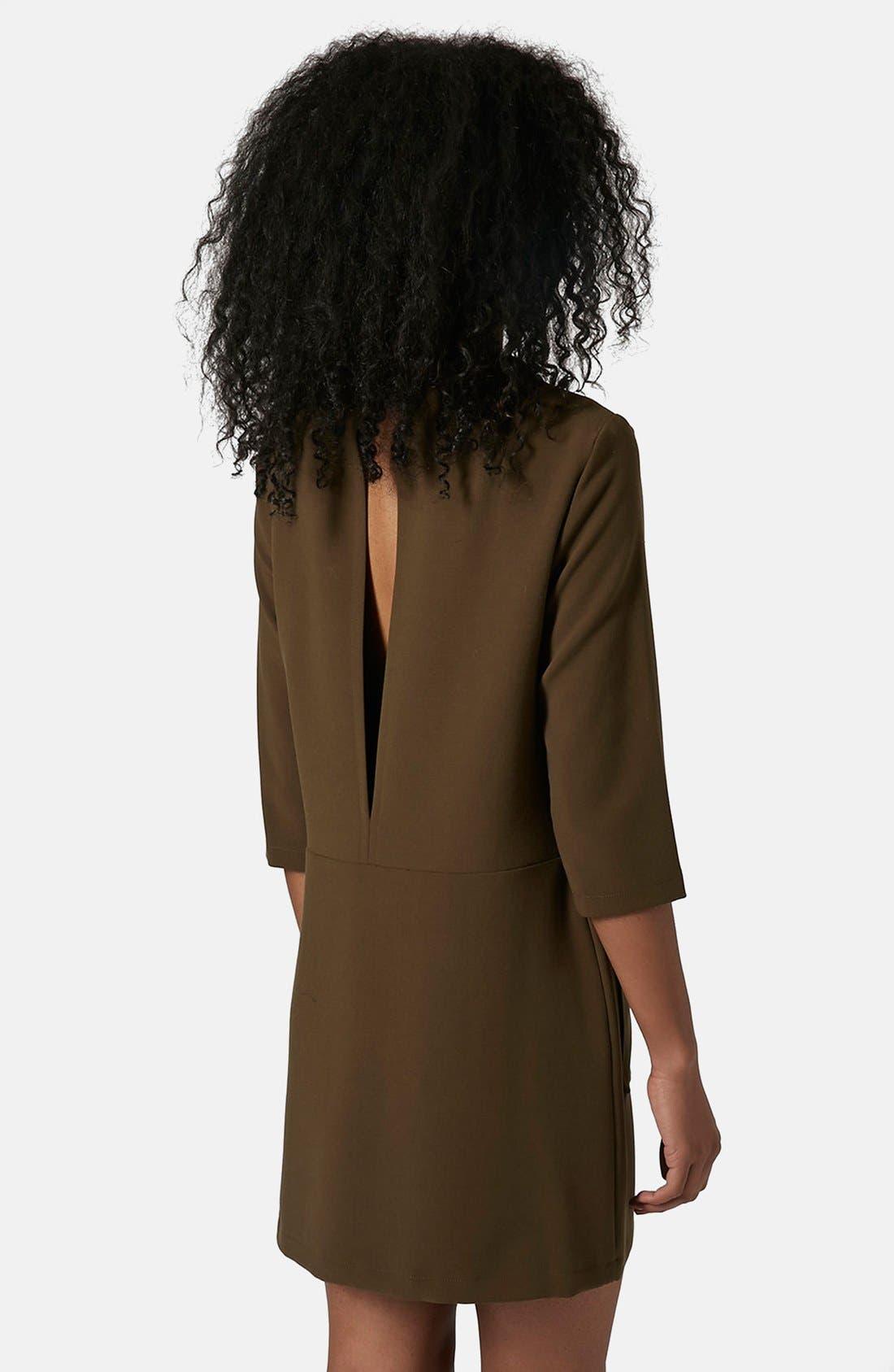 Utility Pocket Tunic Dress,                             Alternate thumbnail 2, color,                             Olive