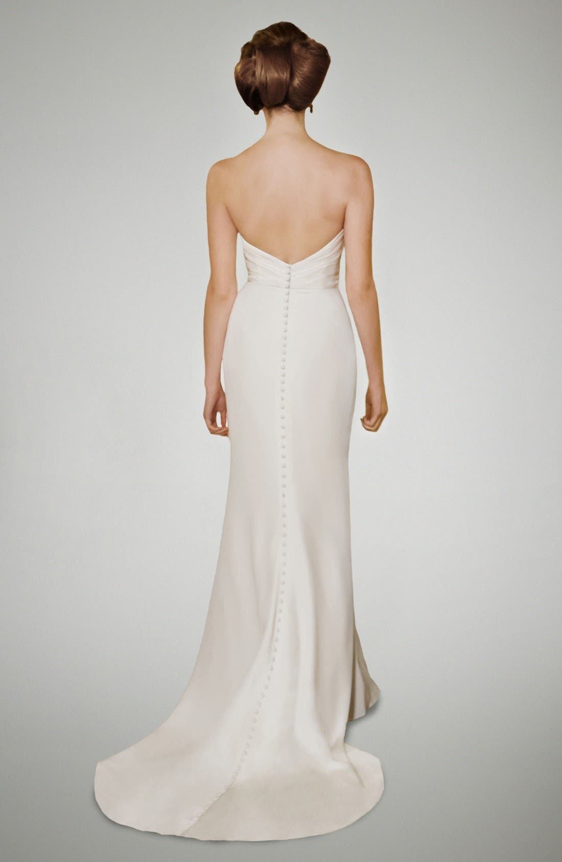 Alternate Image 2  - Matthew Christopher Selma Crepe Column Gown