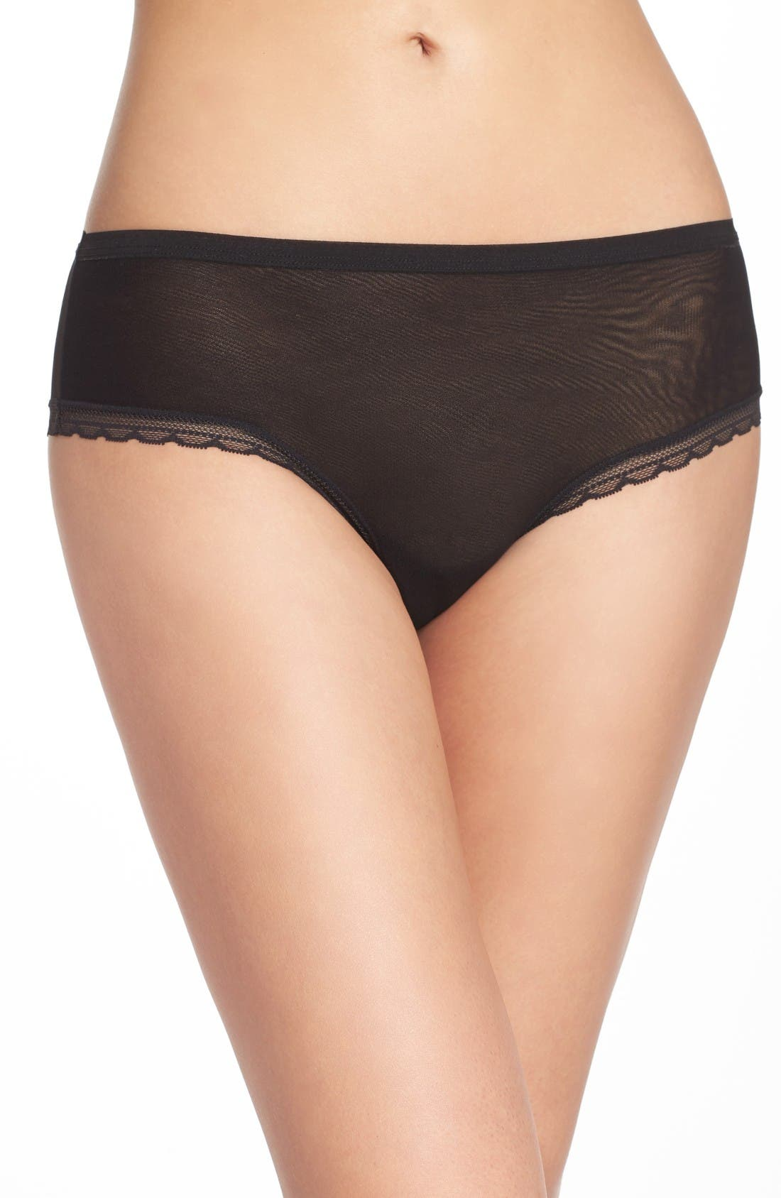 Alternate Image 1 Selected - On Gossamer Modern Mesh Panties (3 for $45)