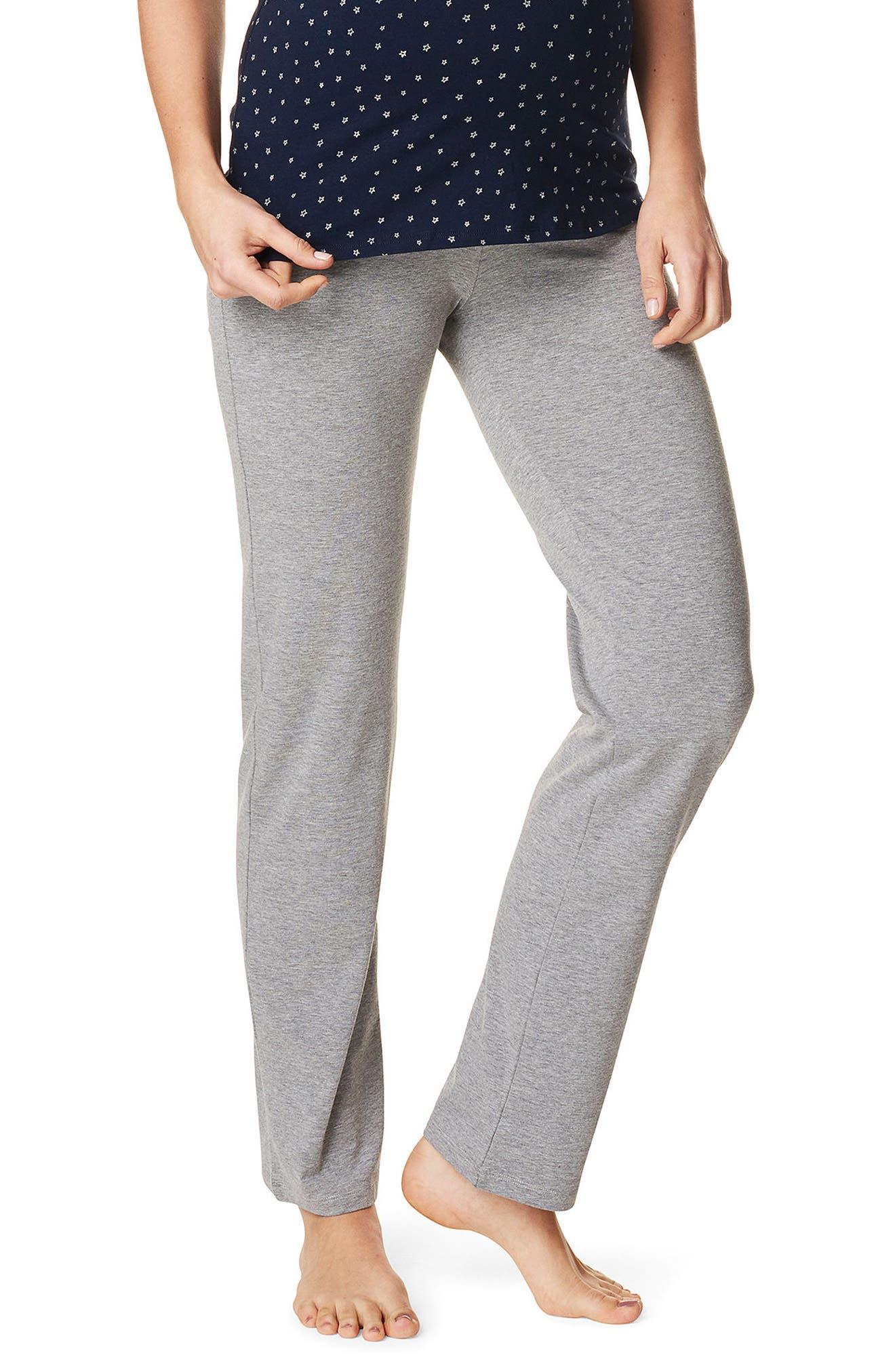 Mette Maternity Pants,                         Main,                         color, Grey