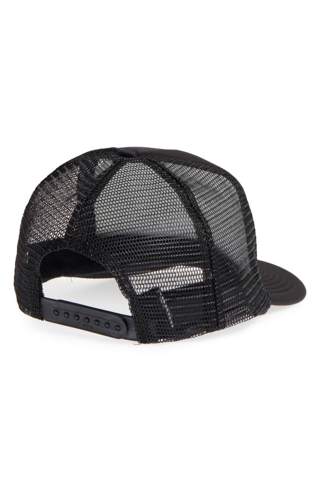 Hot Mess Trucker Hat,                             Alternate thumbnail 2, color,                             Black