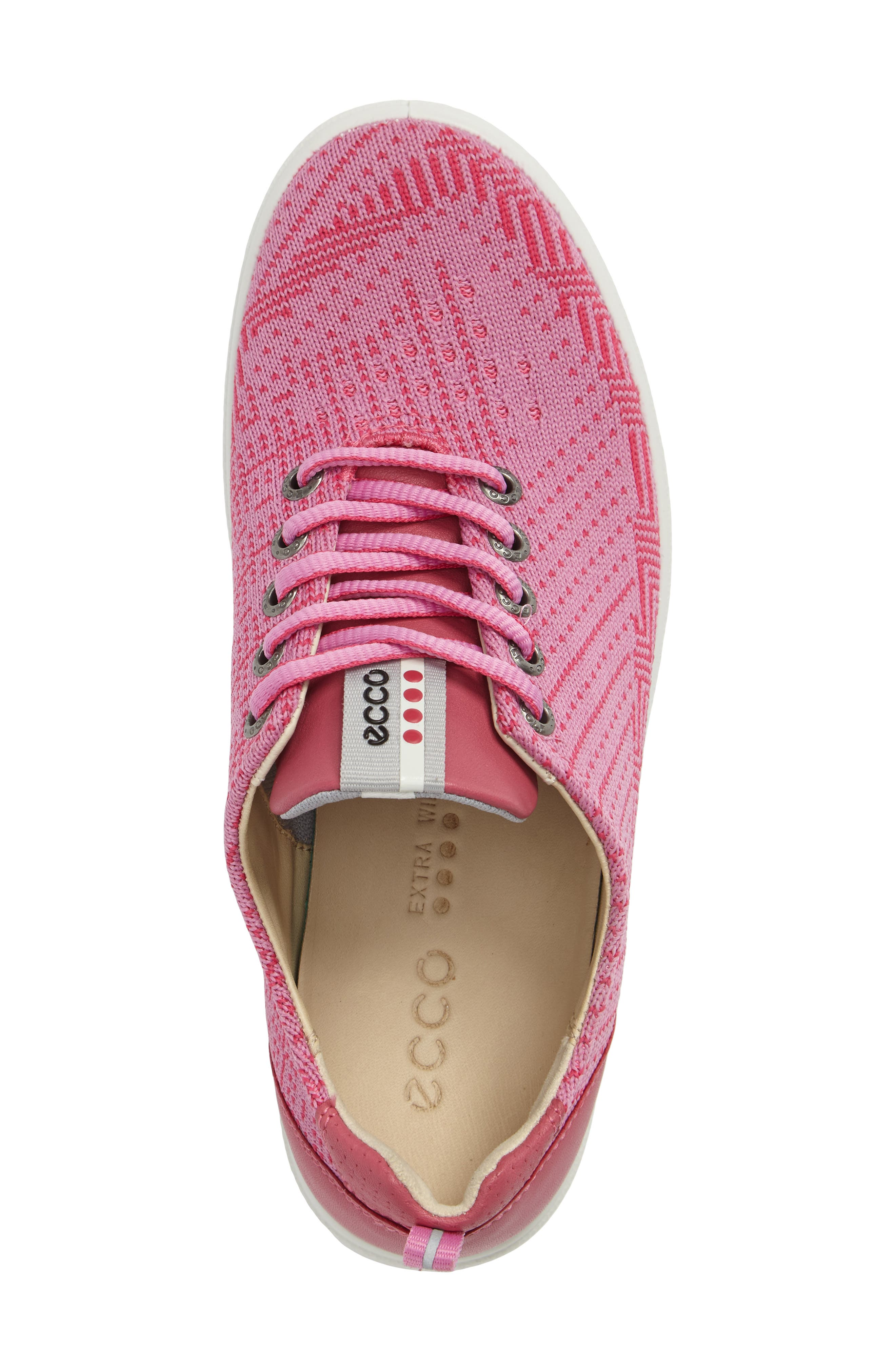 Casual Hybrid Knit Golf Sneaker,                             Alternate thumbnail 3, color,                             Pink/ Beetroot Leather