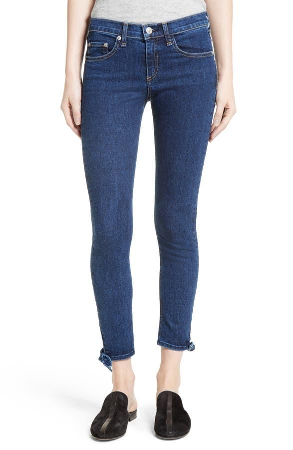 Main Image - rag & bone/JEAN Stevie Tie Hem Capri Skinny Jeans - Rag & Bone/JEAN Stevie Tie Hem Capri Skinny Jeans Nordstrom