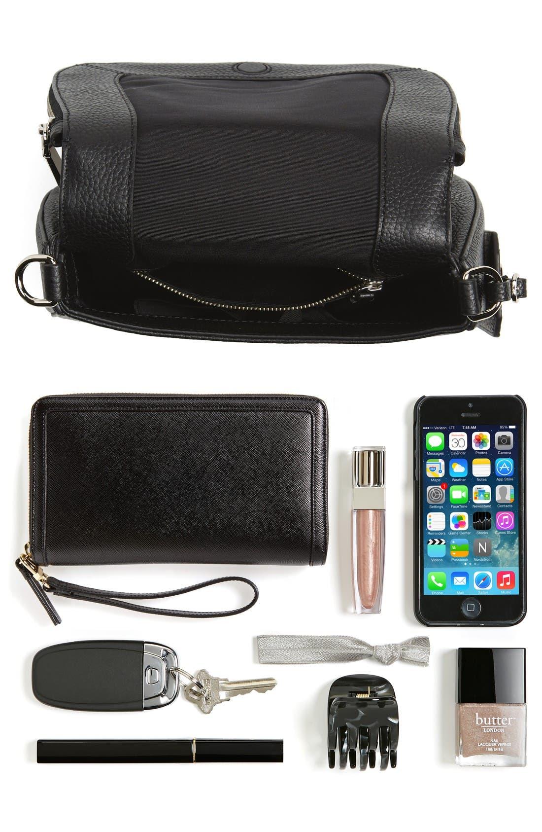 Small Nomad Gotham Leather Crossbody Bag,                             Alternate thumbnail 7, color,                             Black