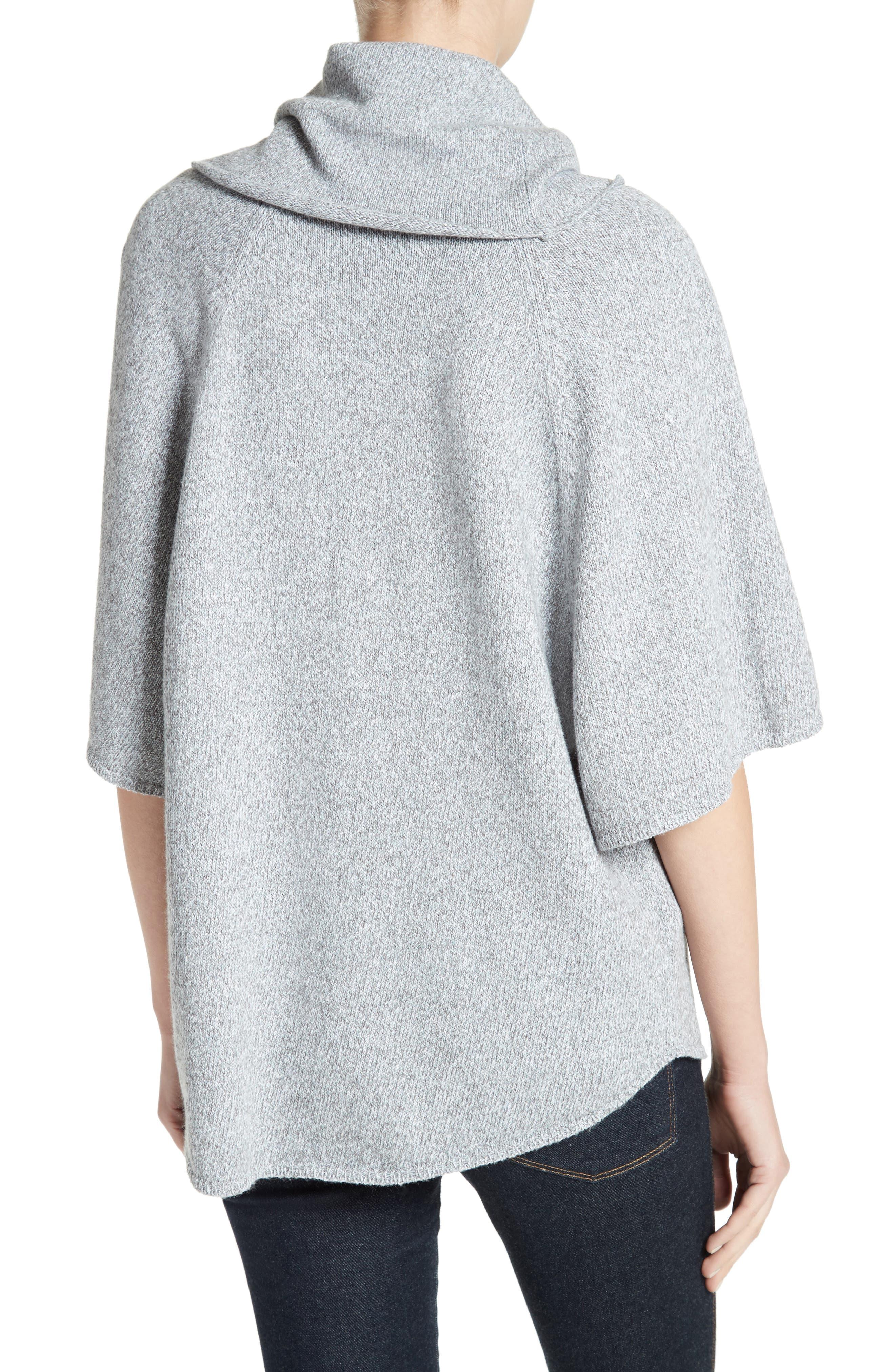 Celia Cowl Neck Sweater,                             Alternate thumbnail 2, color,                             Light Smoke Multi