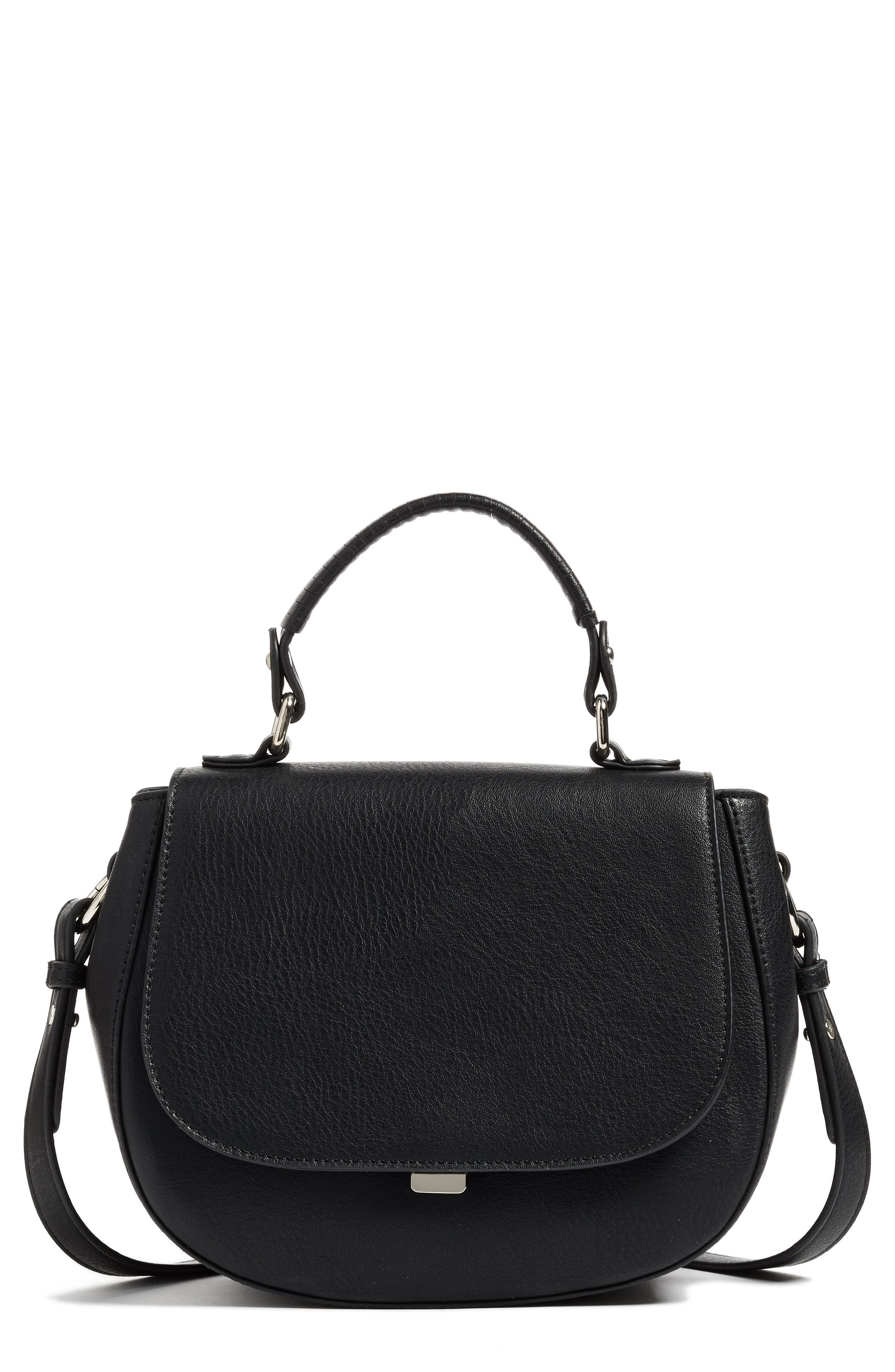 Chelsea28 Kyle Faux Leather Saddle Bag