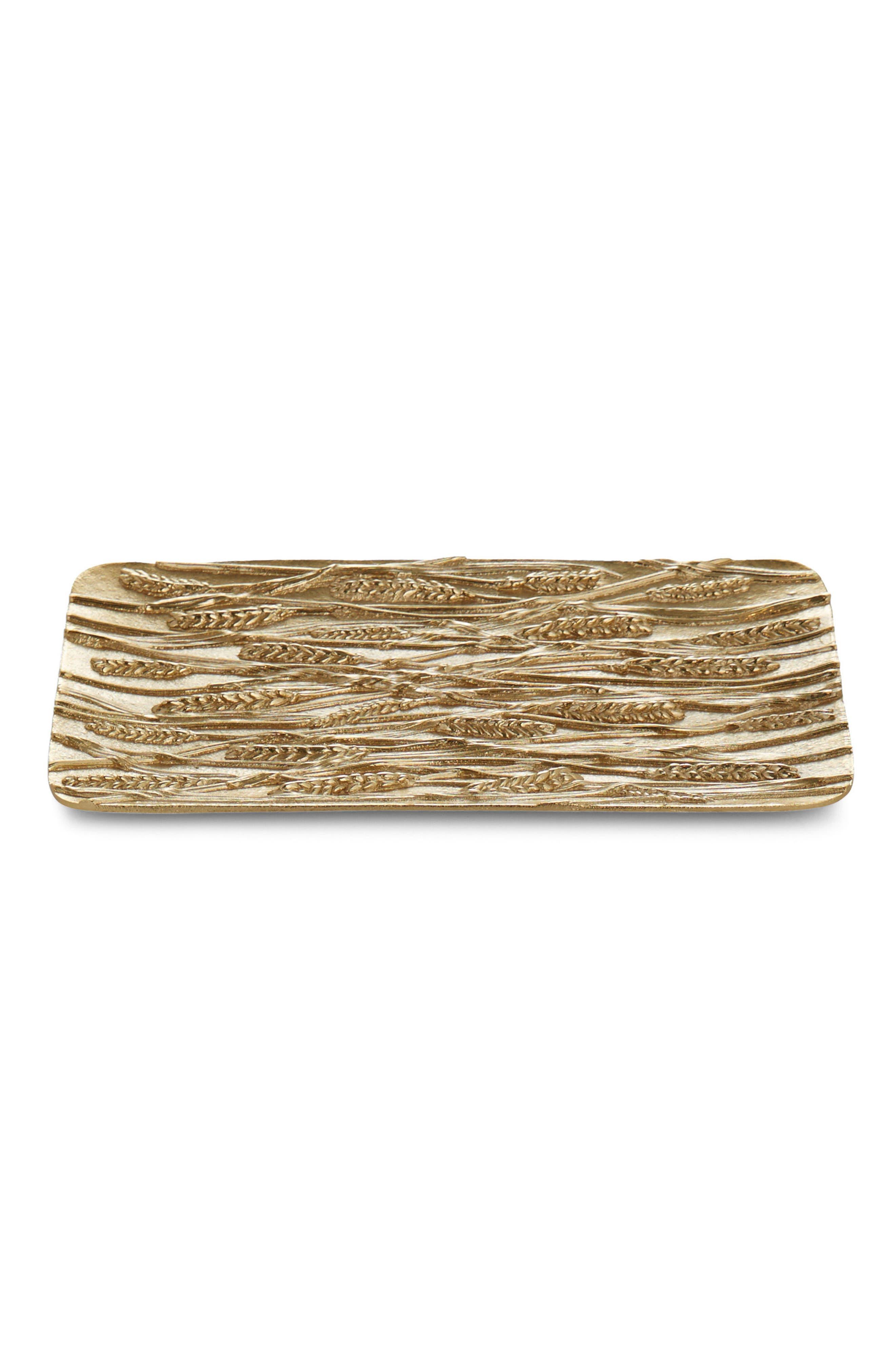 Wheat Bread Plate,                         Main,                         color, Gold