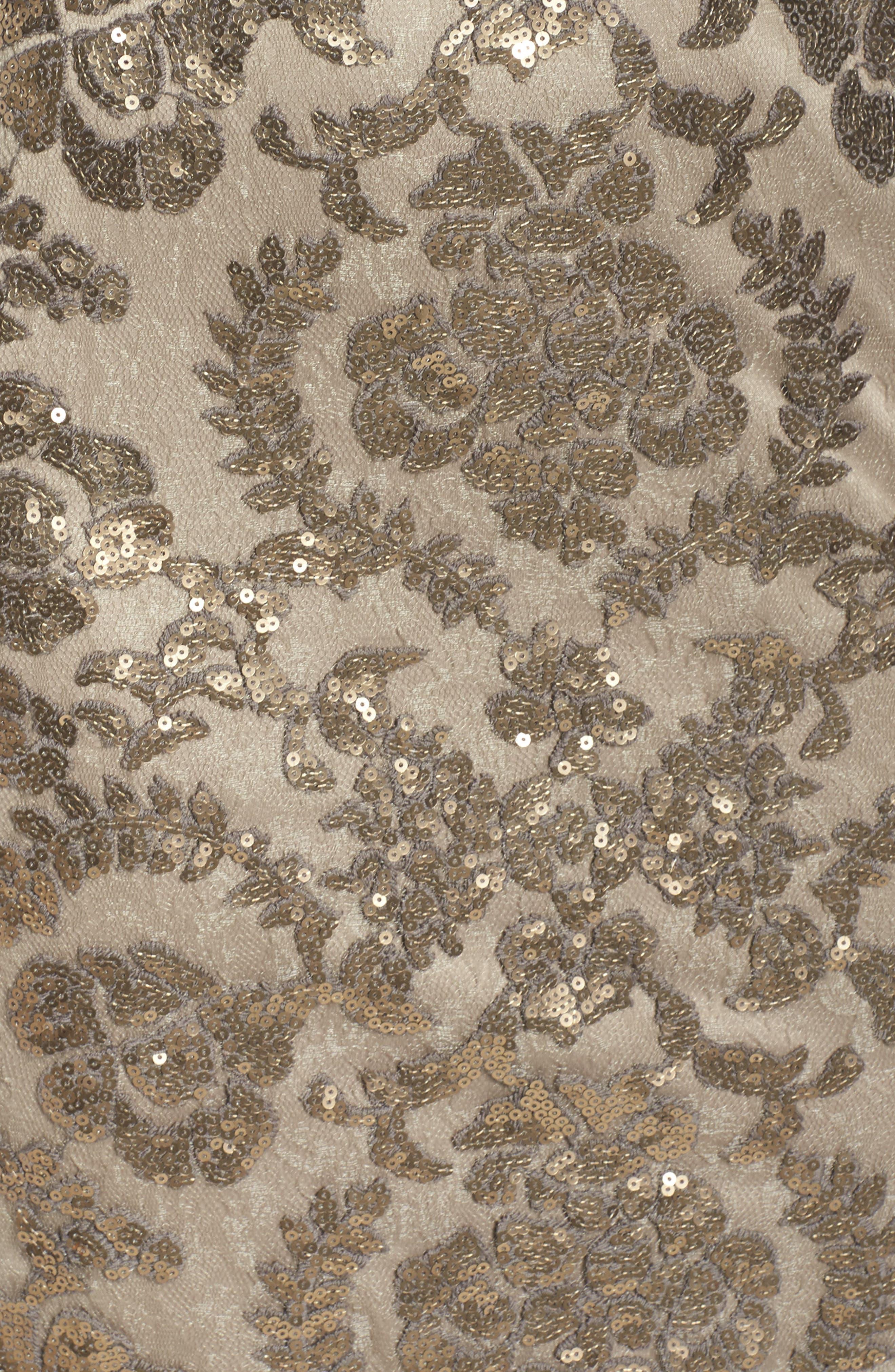 Alternate Image 5  - Tadashi Shoji Sequin Sheath Dress (Regular & Petite)