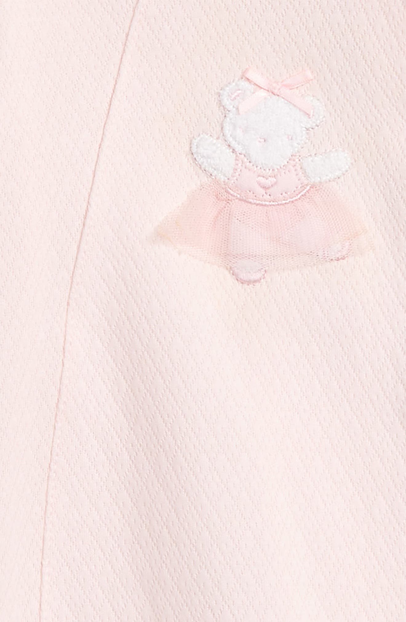 Alternate Image 2  - Little Me Ballet Bear Footie & Hat Set (Baby Girls)
