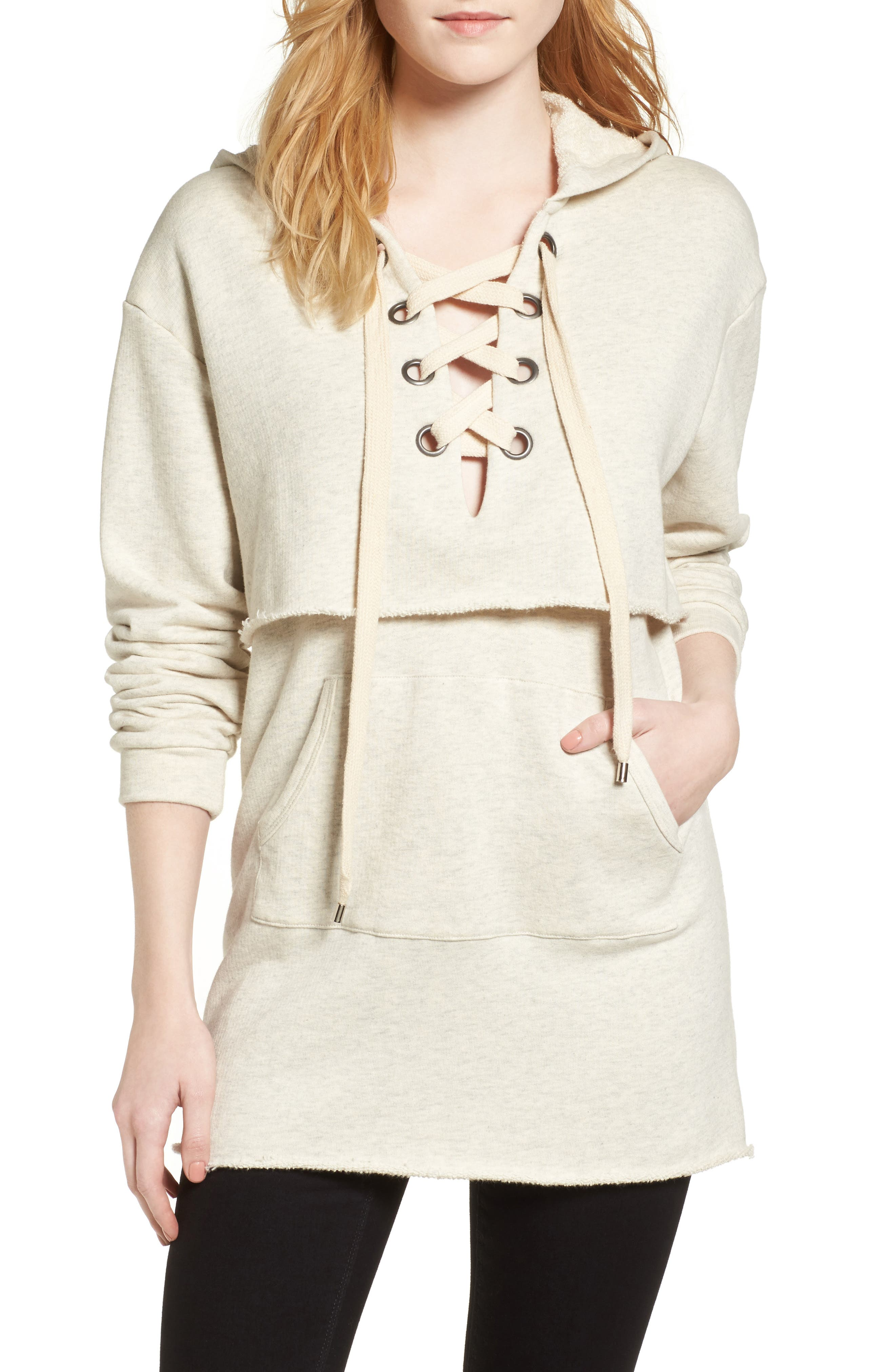 KENDALL + KYLIE Layered Sweatshirt Dress