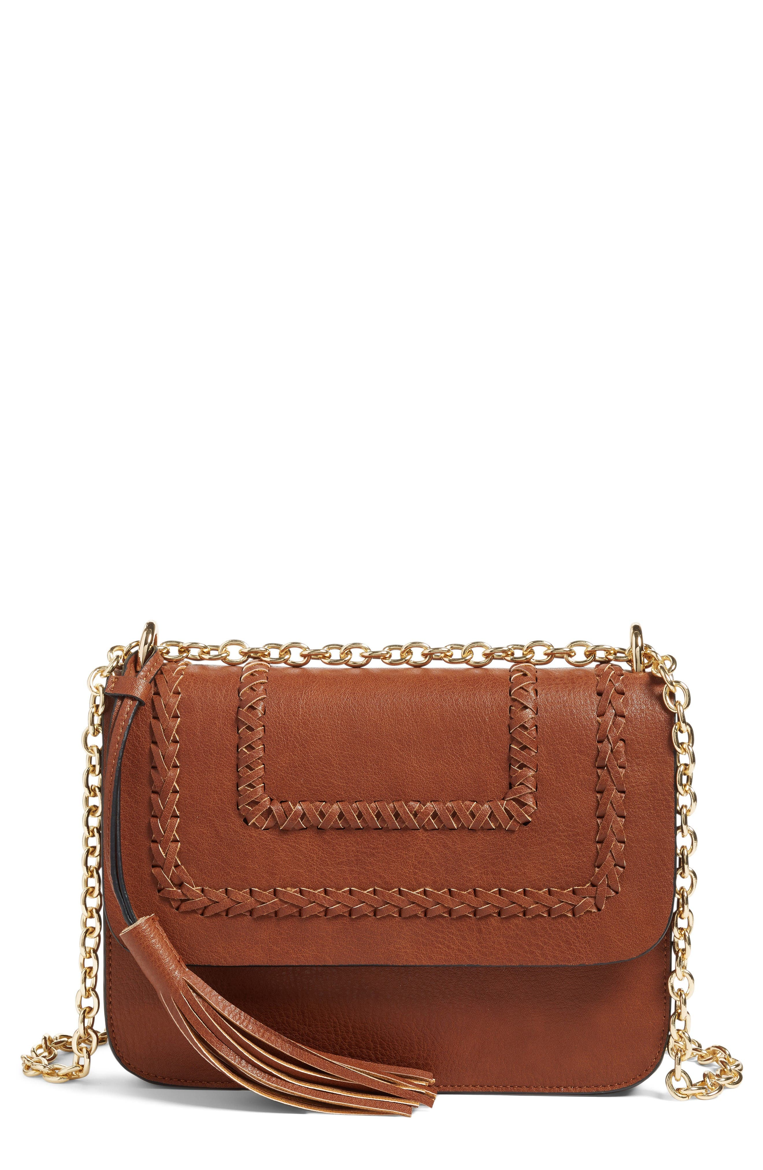 Alternate Image 1 Selected - Chelsea28 Chace Faux Leather Shoulder Bag