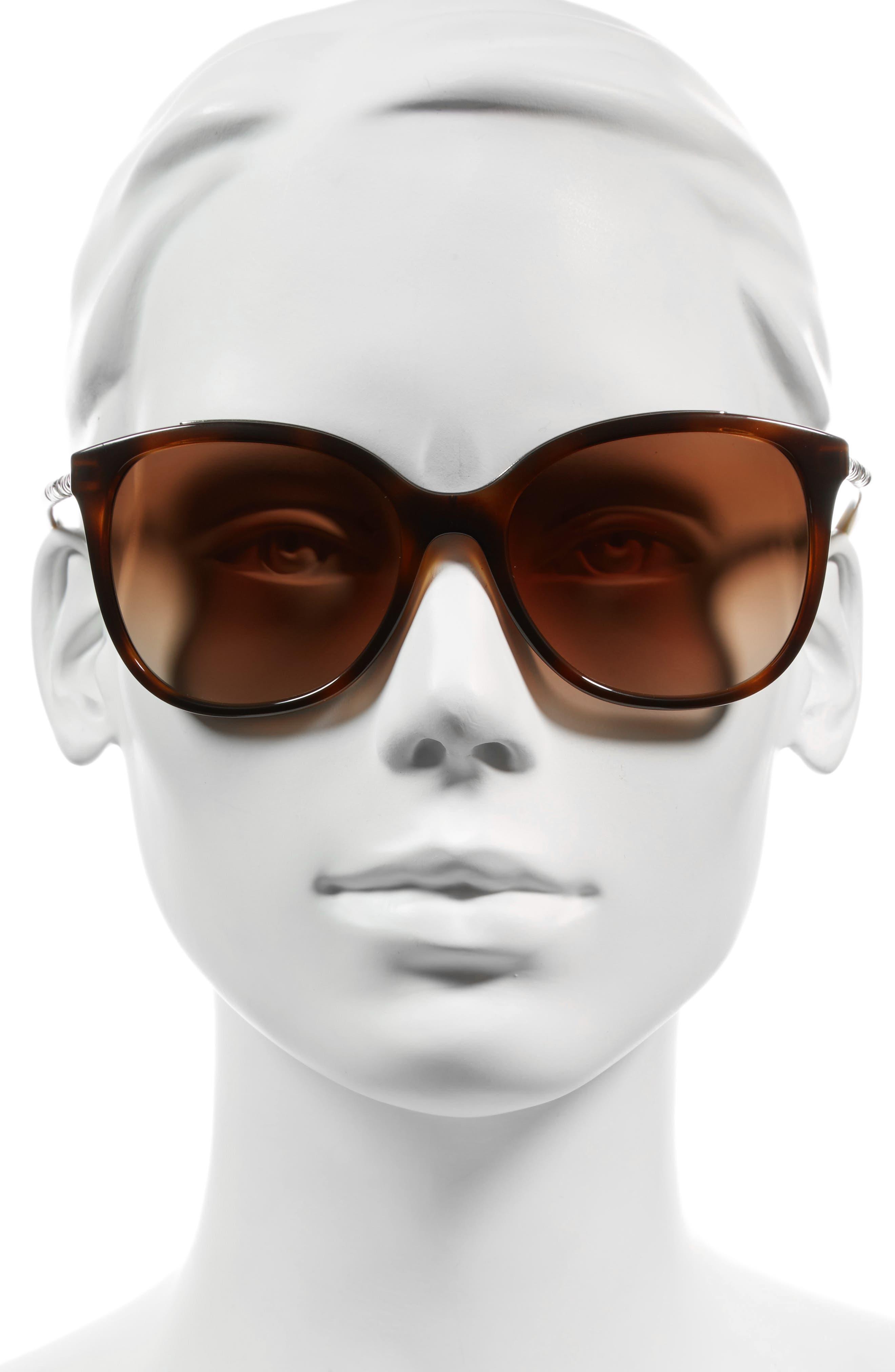 57mm Sunglasses,                             Alternate thumbnail 2, color,                             Light Havana
