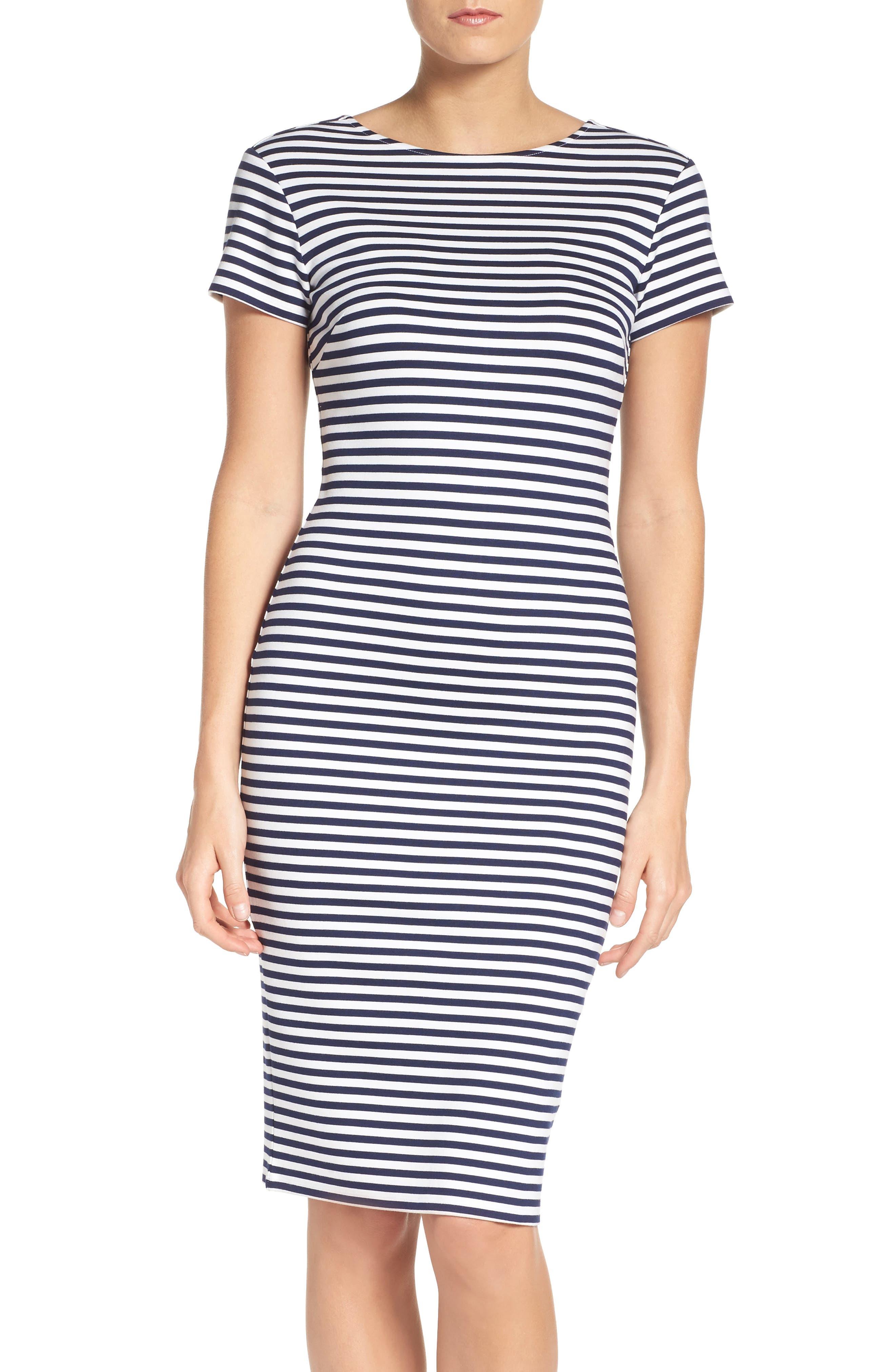 Felicity & Coco Stripe Sheath Dress