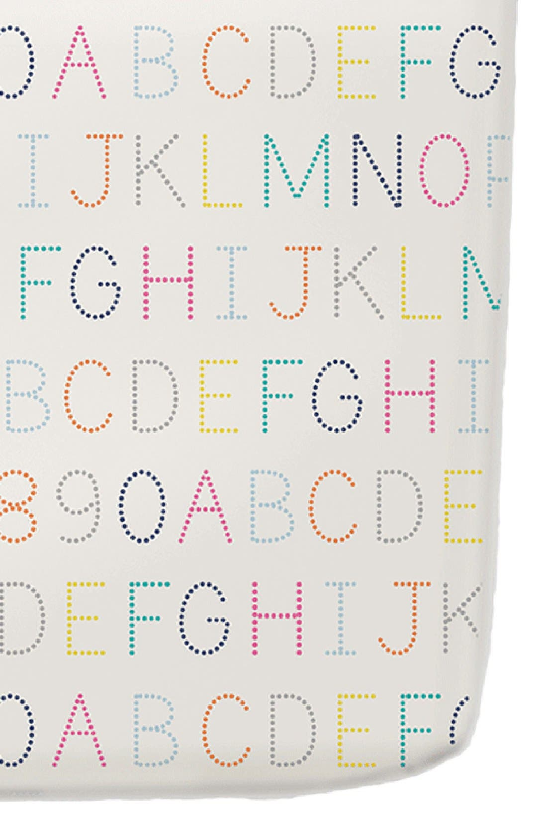 Alphabet Crib Sheet,                             Main thumbnail 1, color,                             Multi