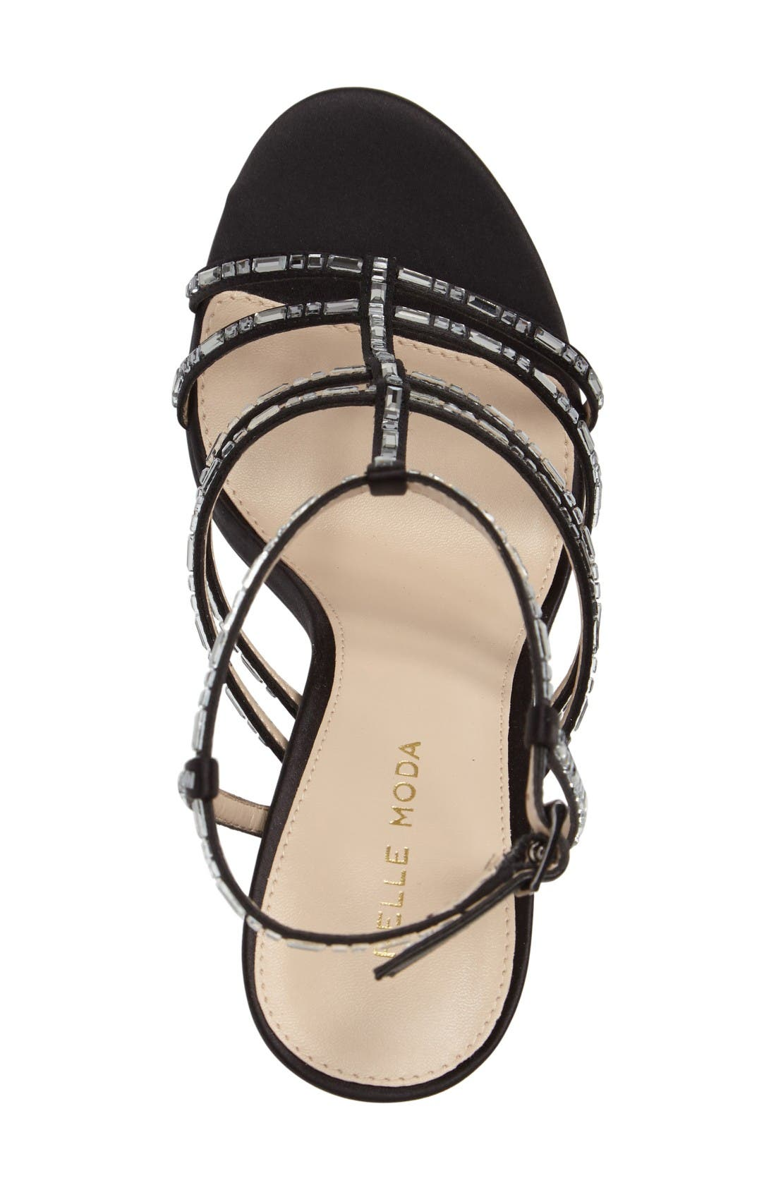 Essey 2 Sandal,                             Alternate thumbnail 3, color,                             Black Leather