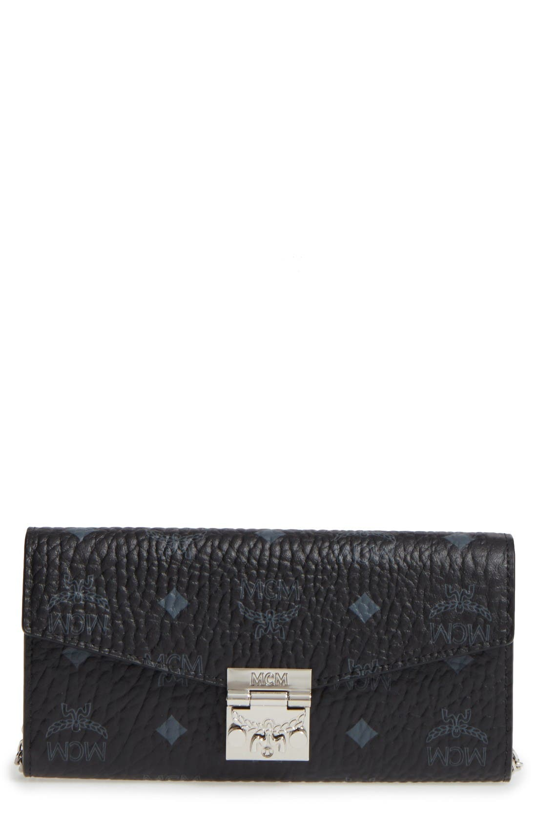Alternate Image 1 Selected - MCM Large Patricia Visetos Canvas Wallet on a Chain