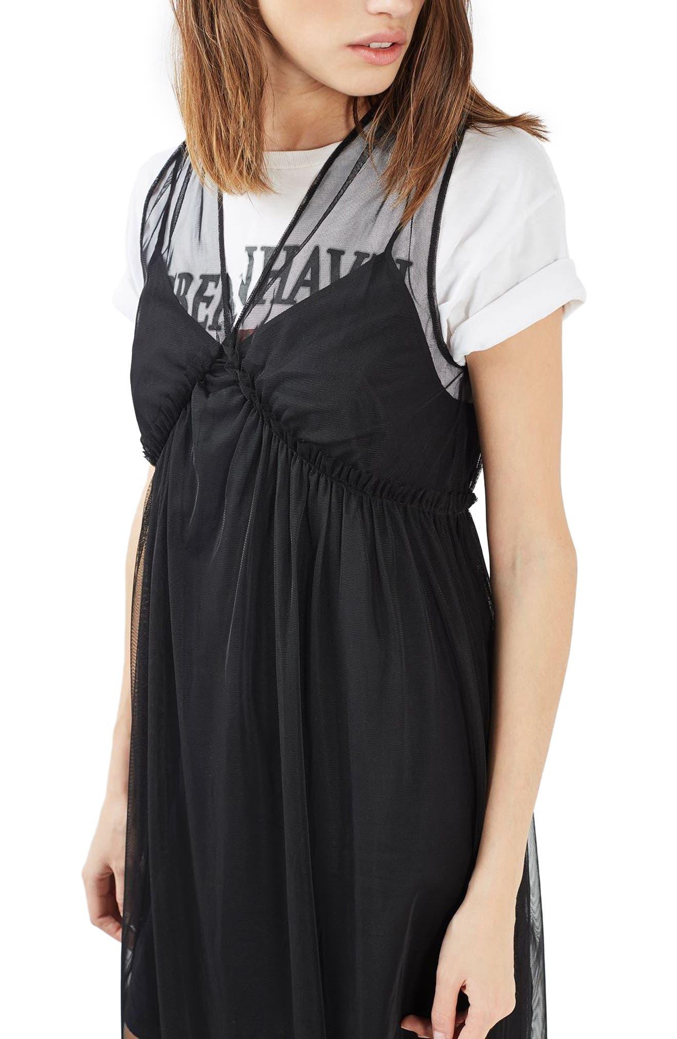 Alternate Image 4  - Topshop Tulle Midi Dress