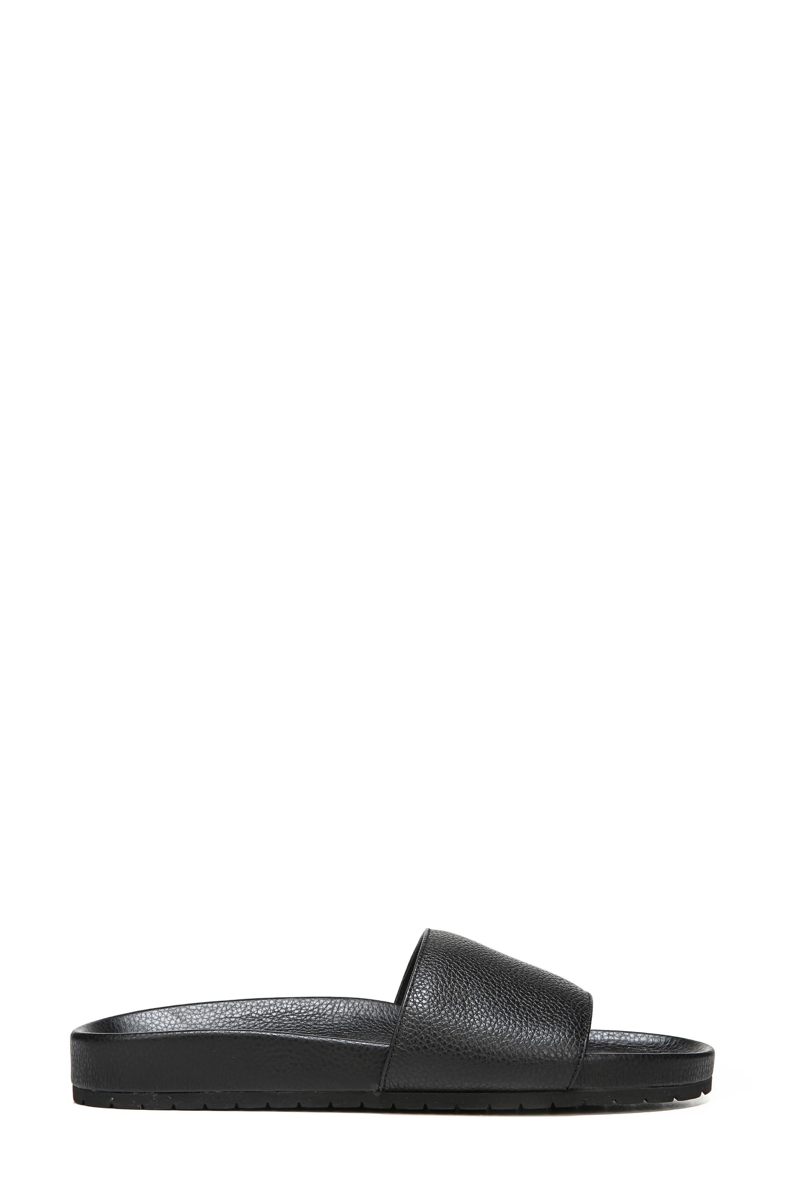 Gavin Slide Sandal,                             Alternate thumbnail 3, color,                             Black