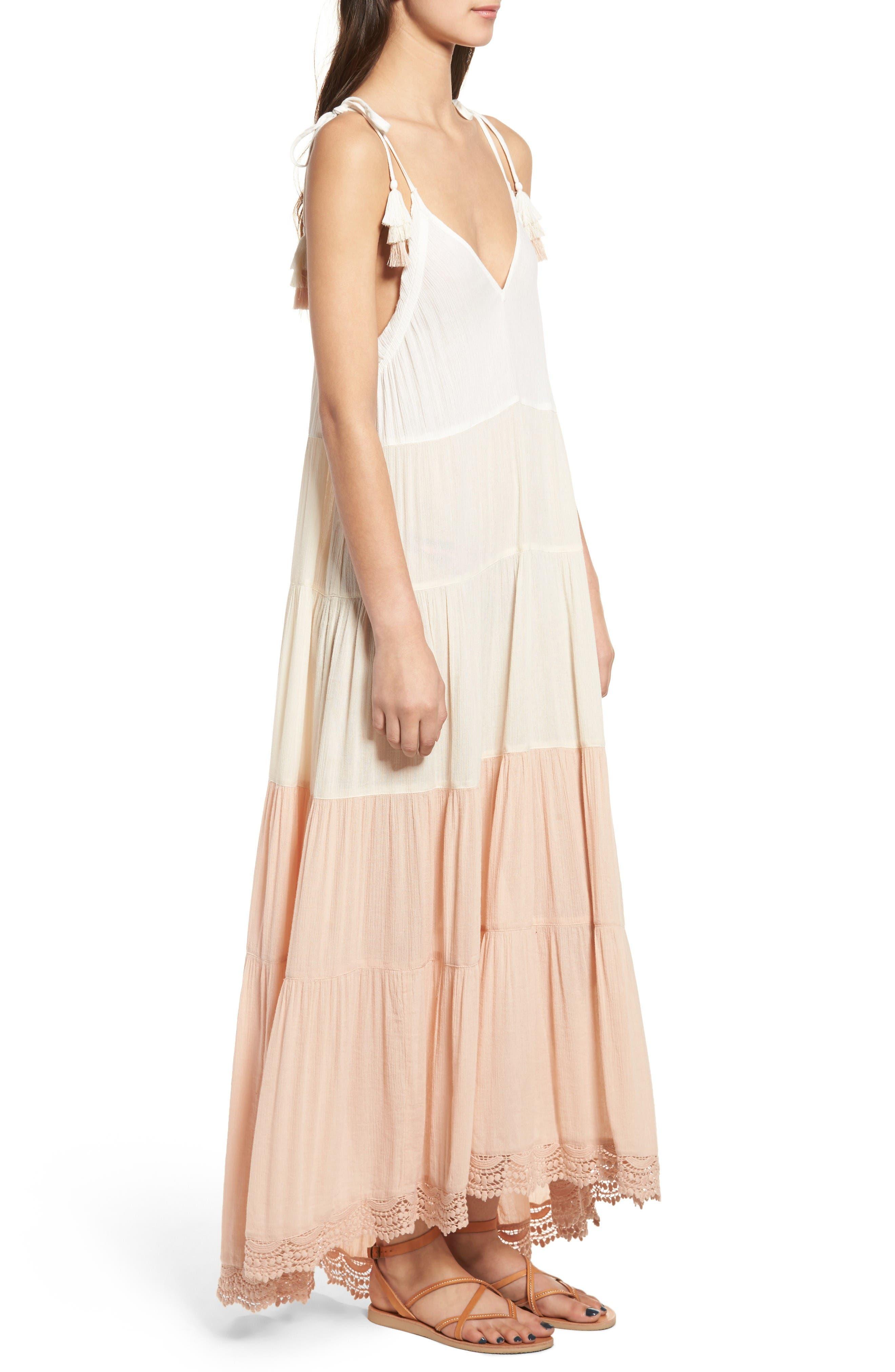 Alternate Image 3  - Sun & Shadow Colorblock Maxi Dress