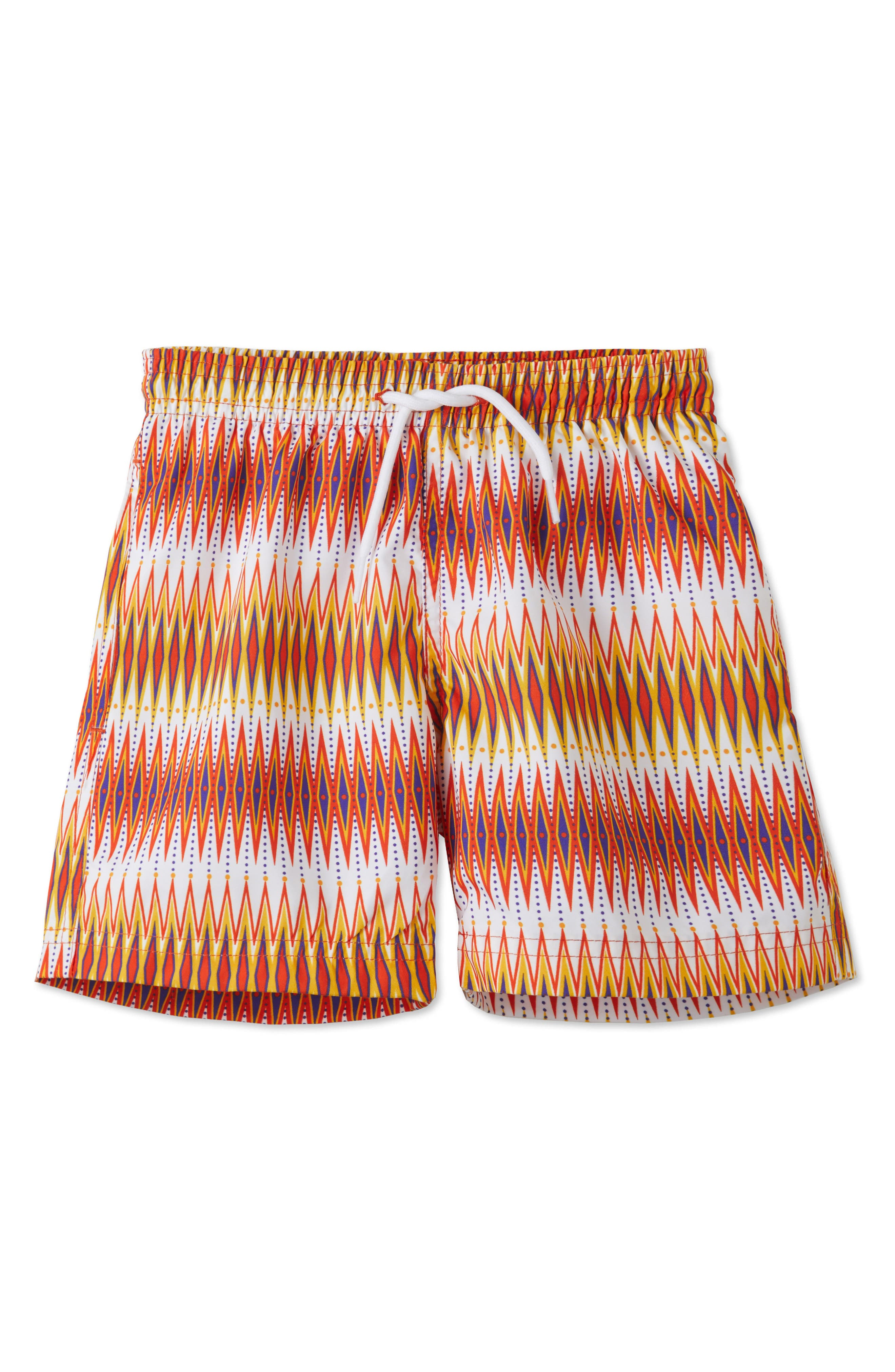 Stella Cove Chevron Print Swim Trunks (Toddler Boys & Little Boys)