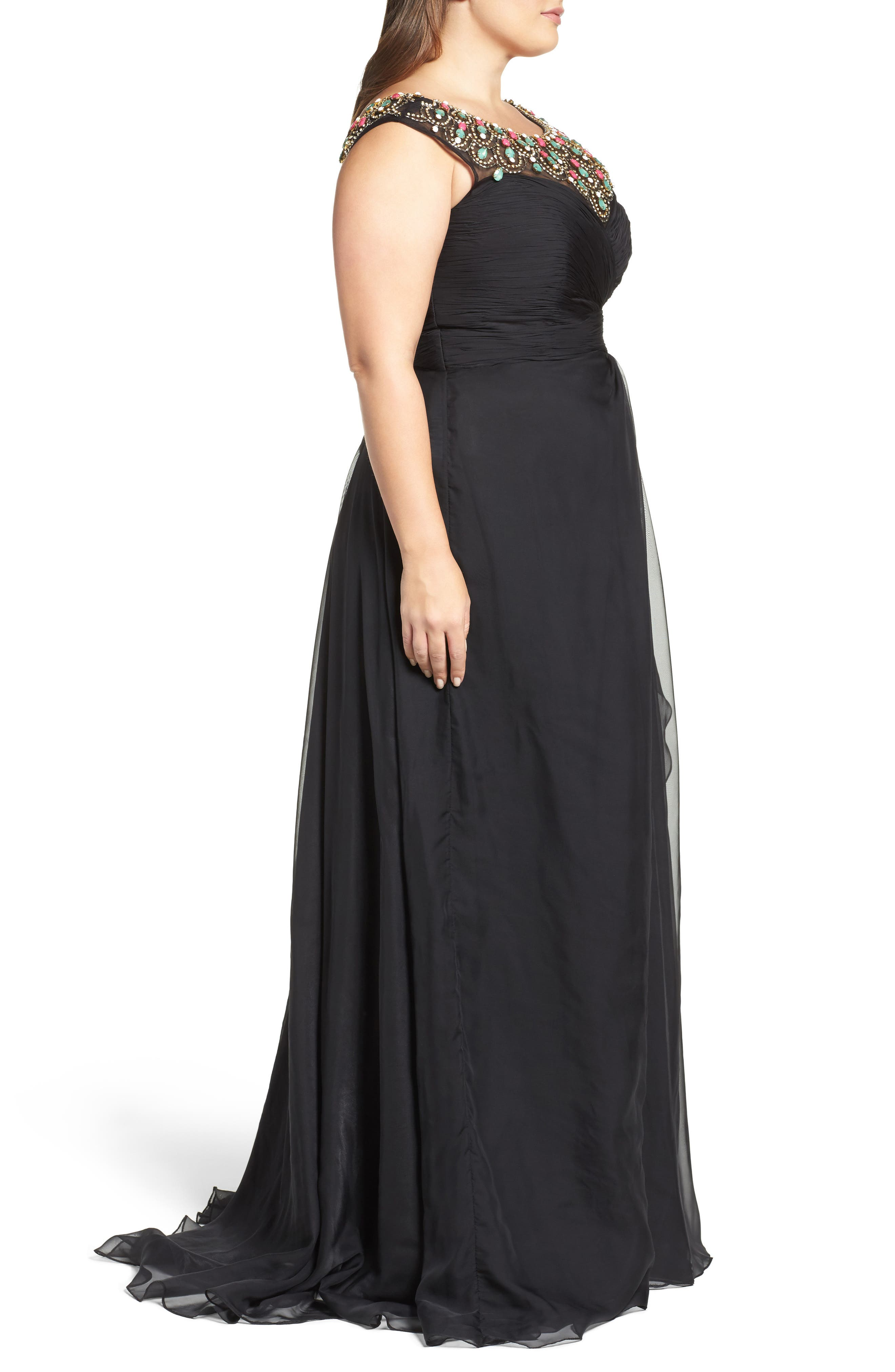 Alternate Image 3  - Mac Duggal Embellished Goddess Gown (Plus Size)