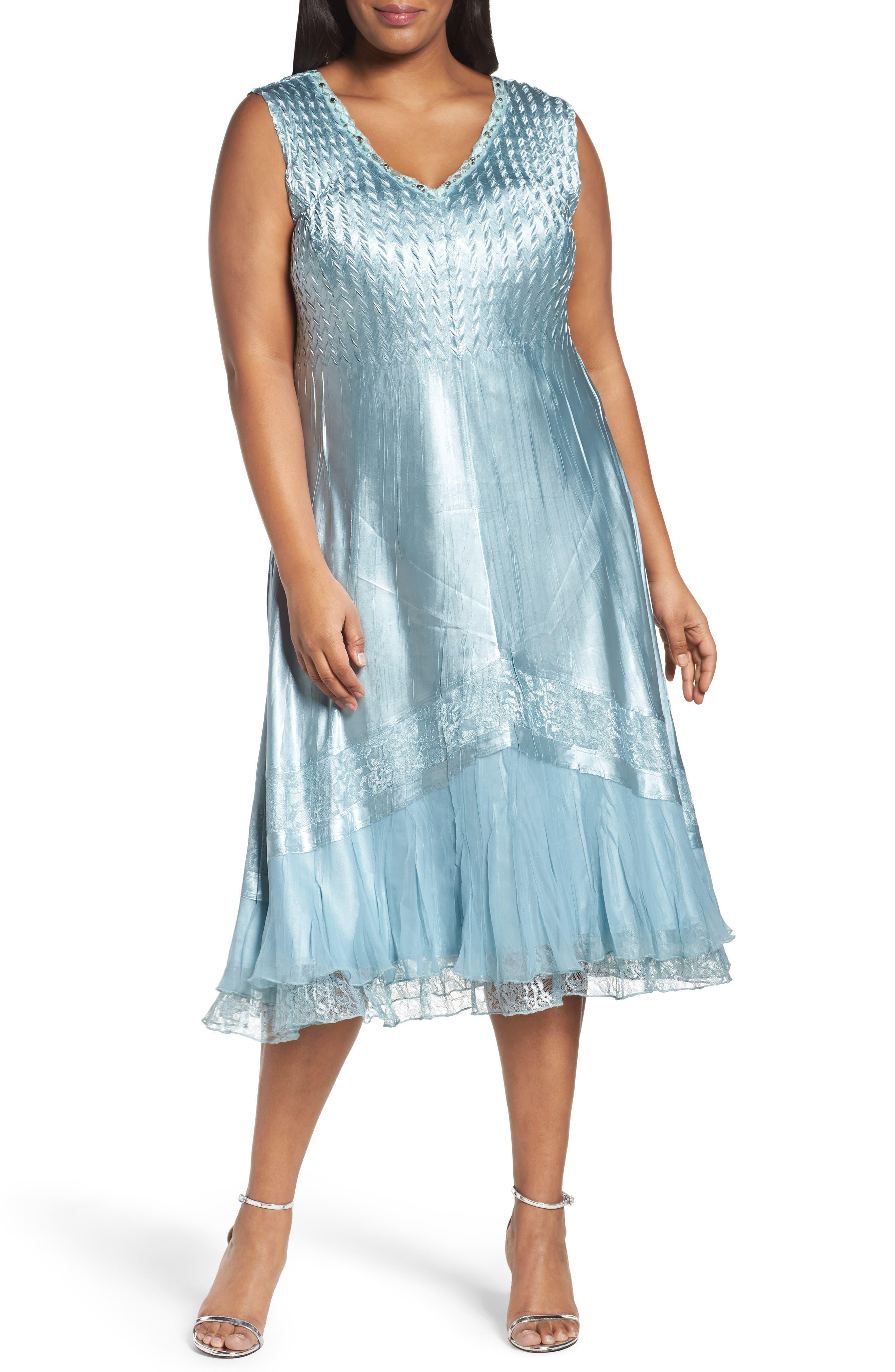 Alternate Image 3  - Komarov Lace Trim Jacket Dress (Plus Size)