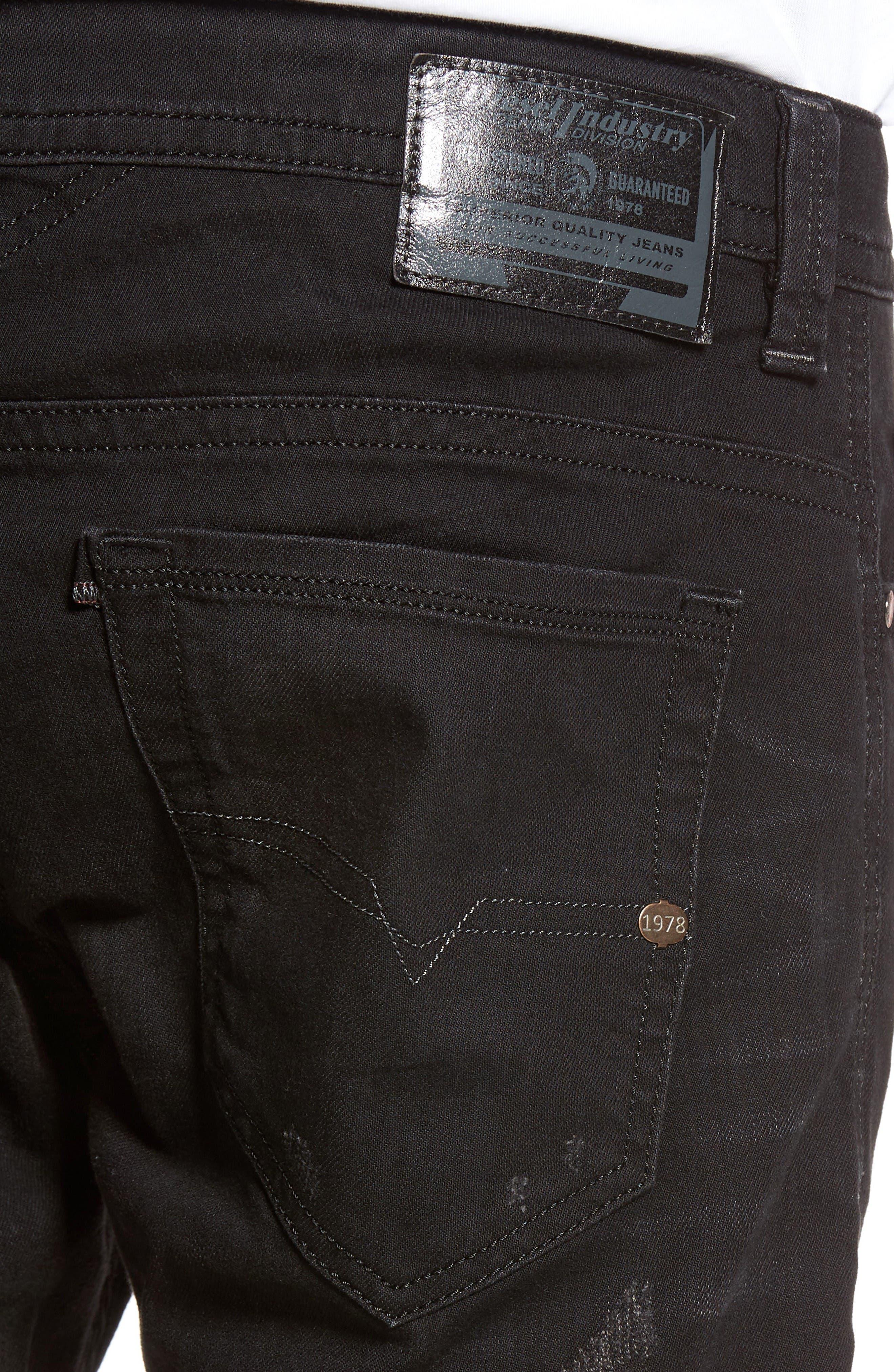 Thavar Skinny Fit Jeans,                             Alternate thumbnail 4, color,                             0679F