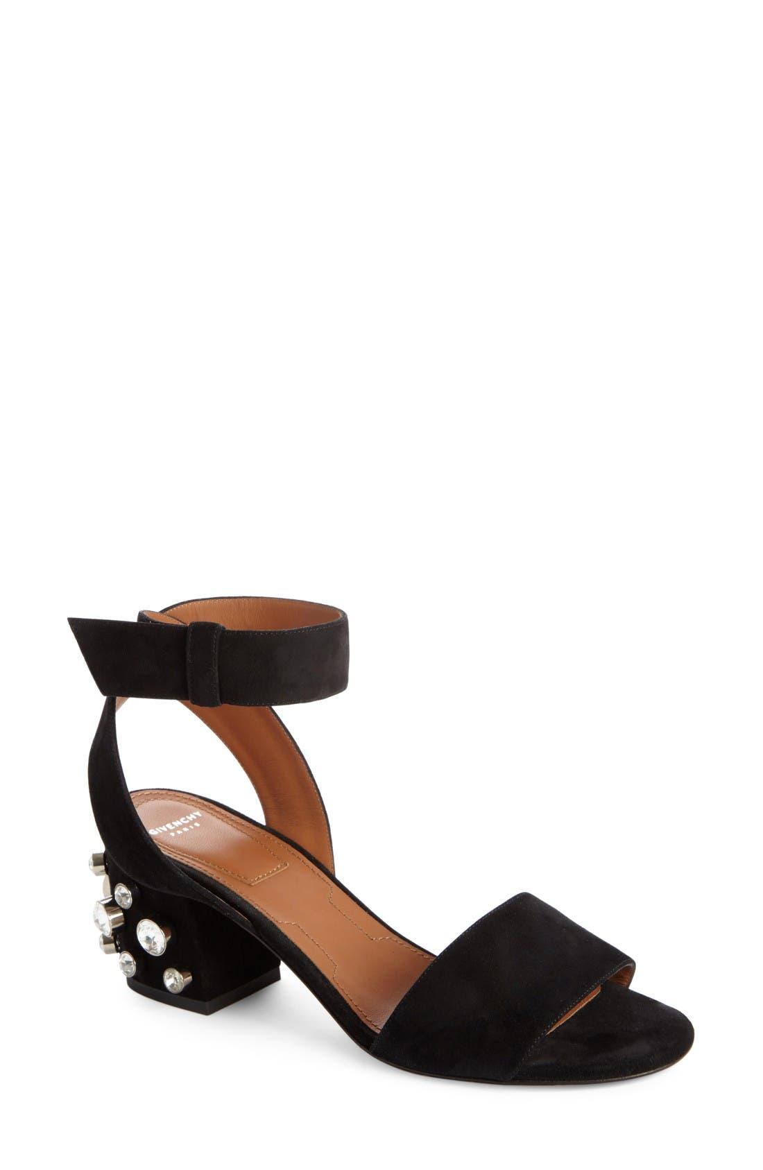 Givenchy Paris Crystal Ankle Strap Sandal (Women)