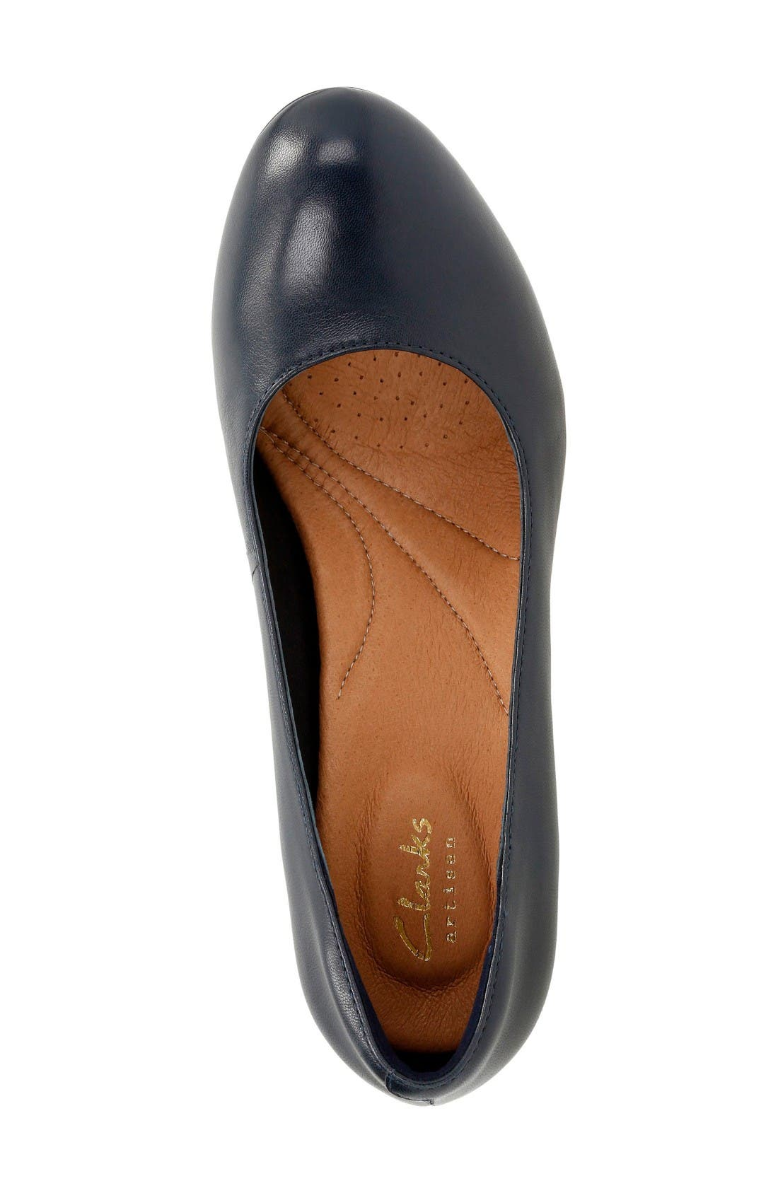 'Heavenly Star' Pump,                             Alternate thumbnail 3, color,                             Navy Leather