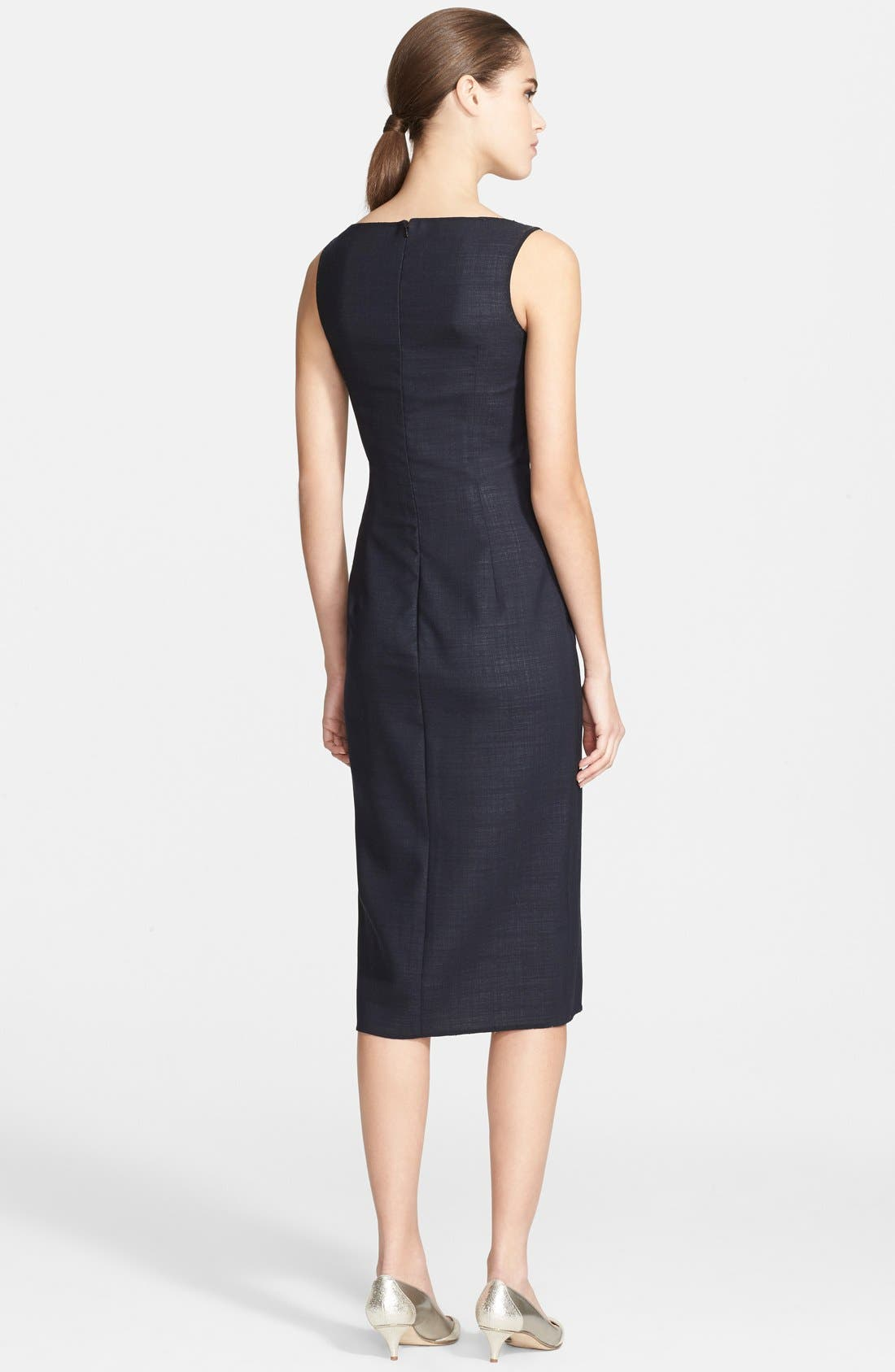 Alternate Image 2  - Oscar de la Renta Folded Double-Face Wool Blend Pencil Dress