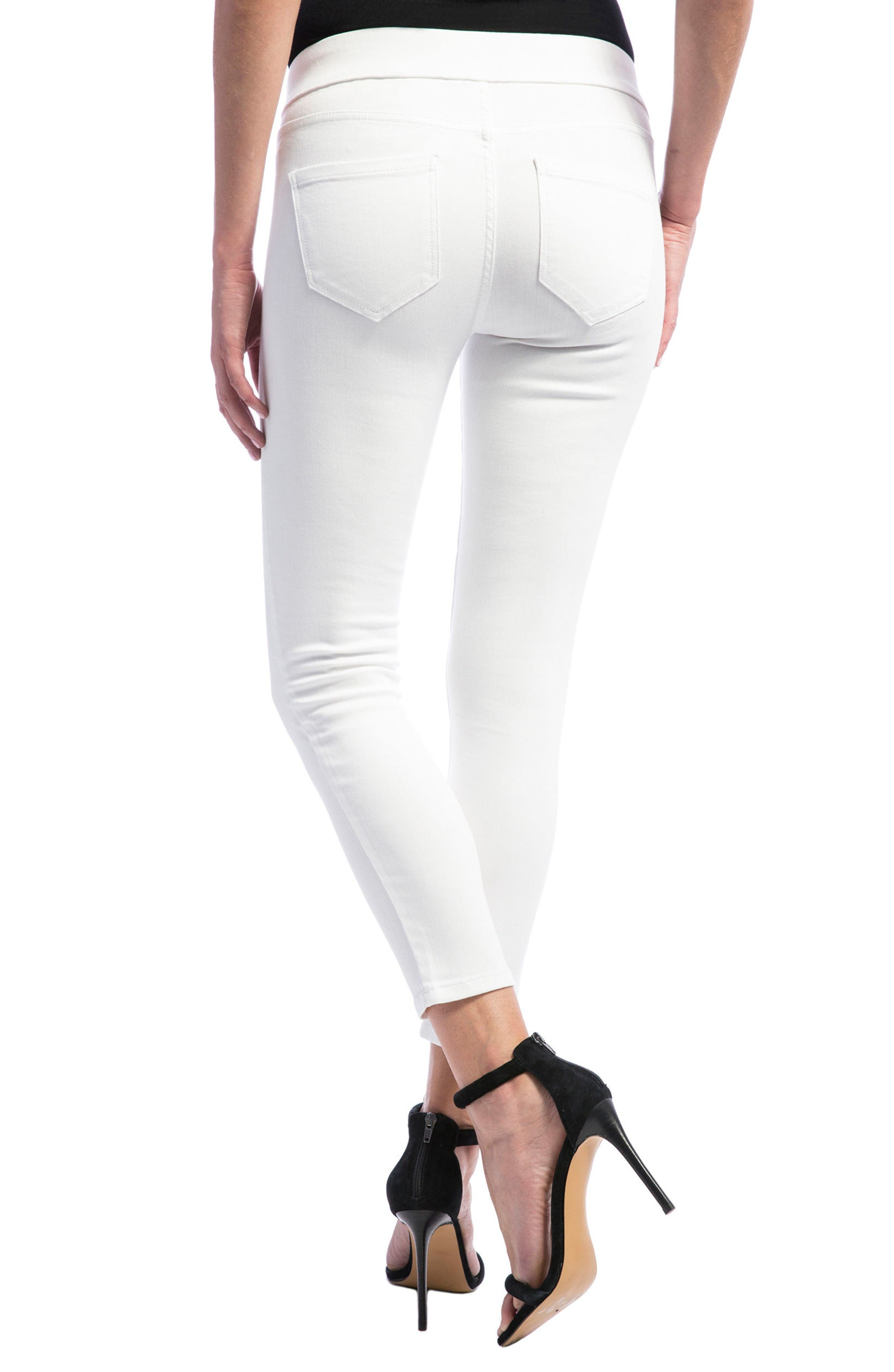 Sienna Pull-On Stretch Skinny Ankle Jeans,                             Alternate thumbnail 3, color,                             Bright White