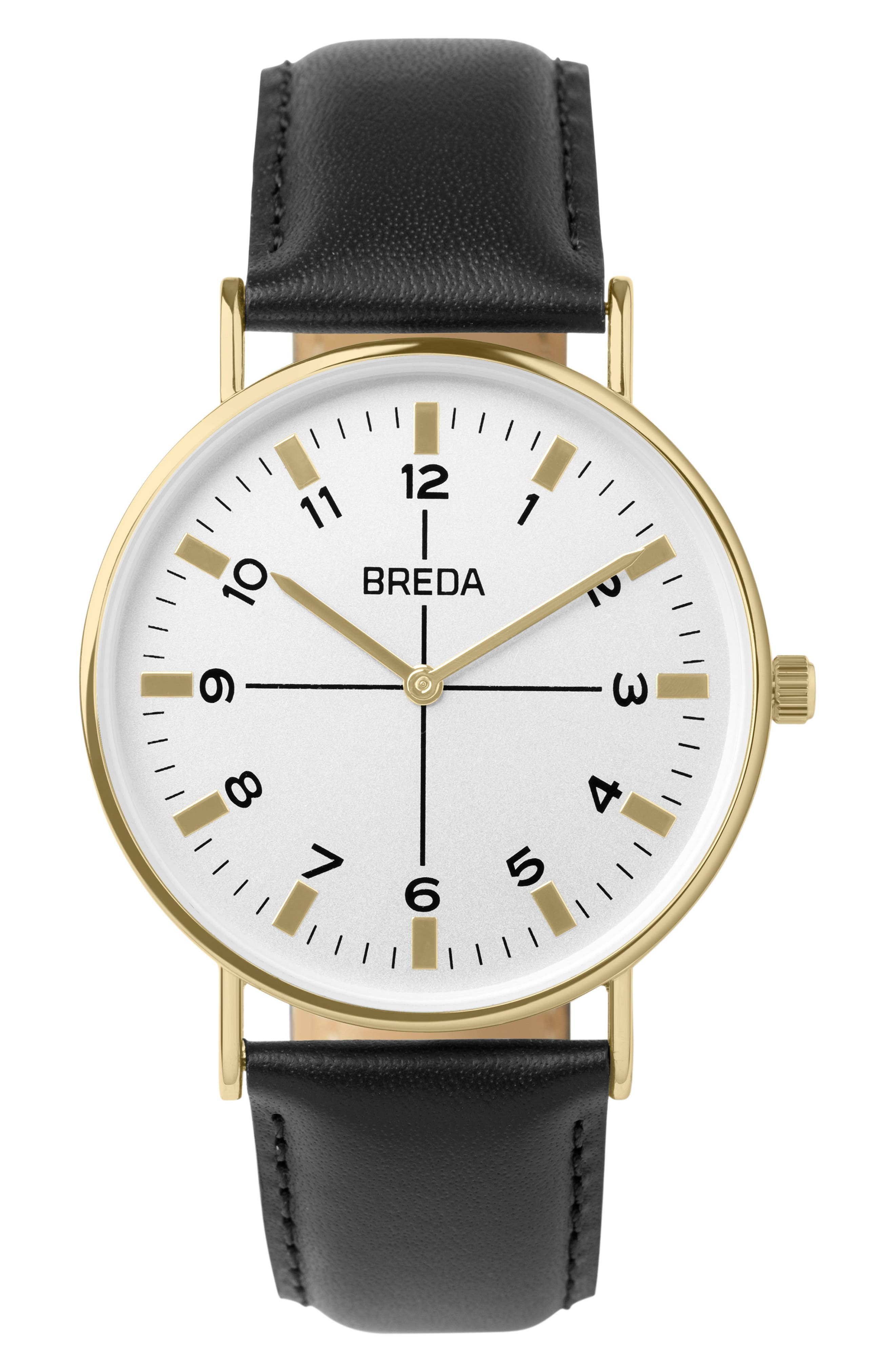 Alternate Image 1 Selected - BREDA Belmont Slim Leather Strap Watch, 40mm
