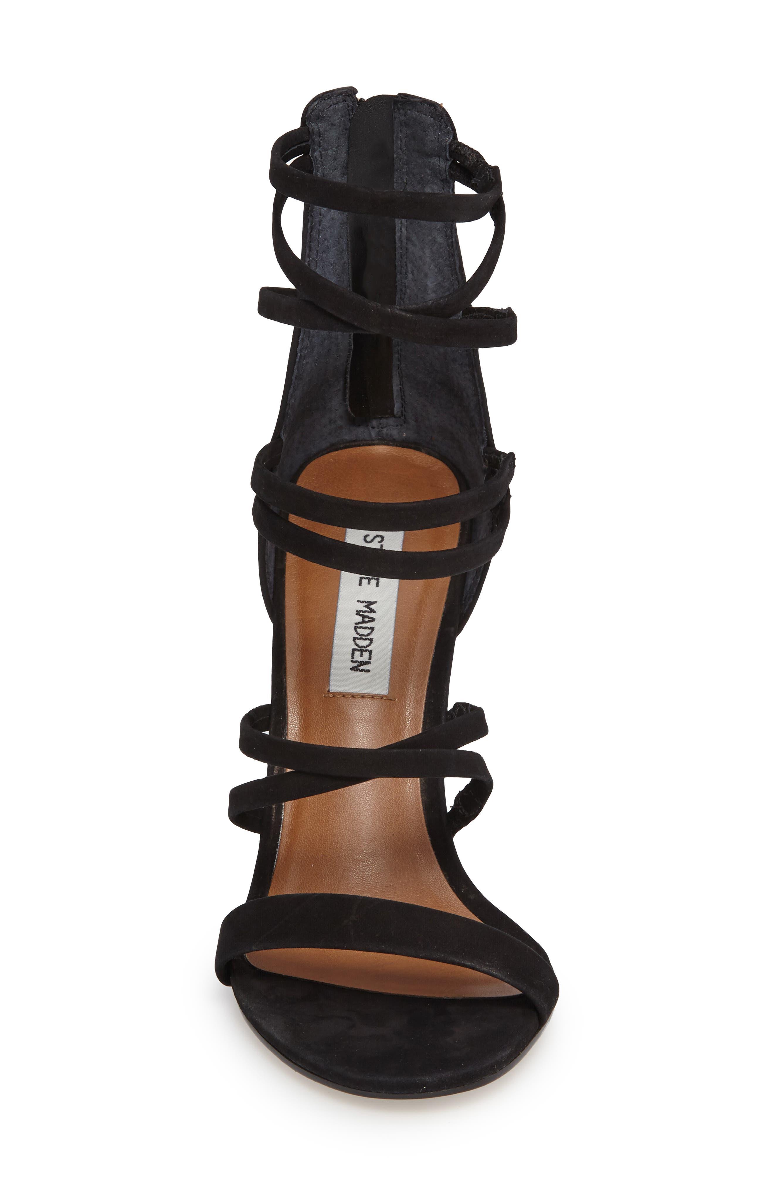 Tierney Sandal,                             Alternate thumbnail 3, color,                             Black Nubuck Leather