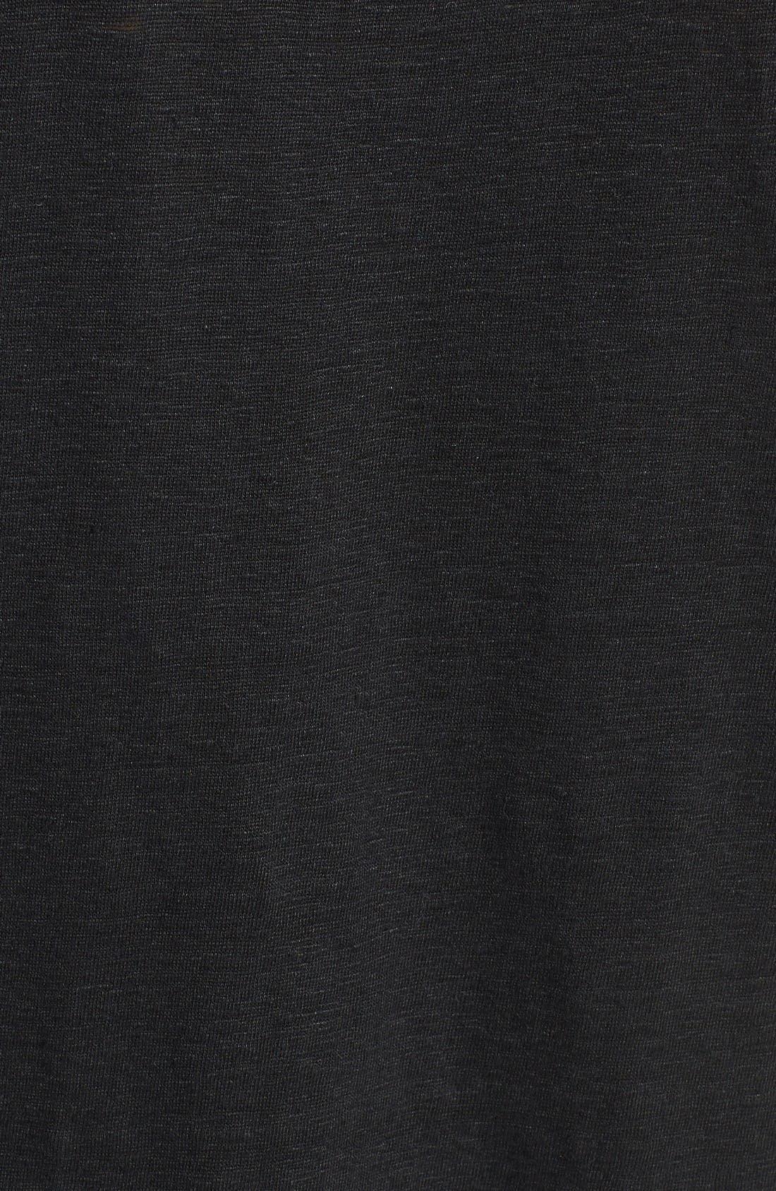U-Neck Organic Linen Tank,                             Alternate thumbnail 5, color,                             Black